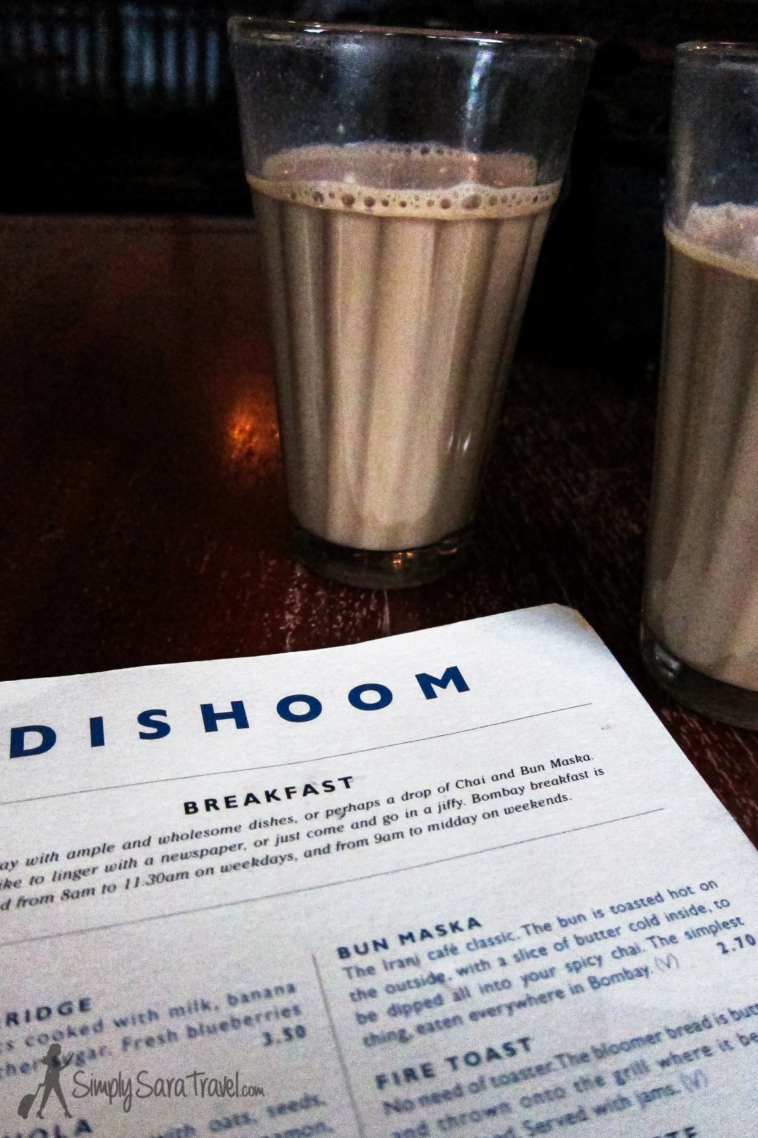 Starting off the morning with a spicy glass of Dishoom's House Chai