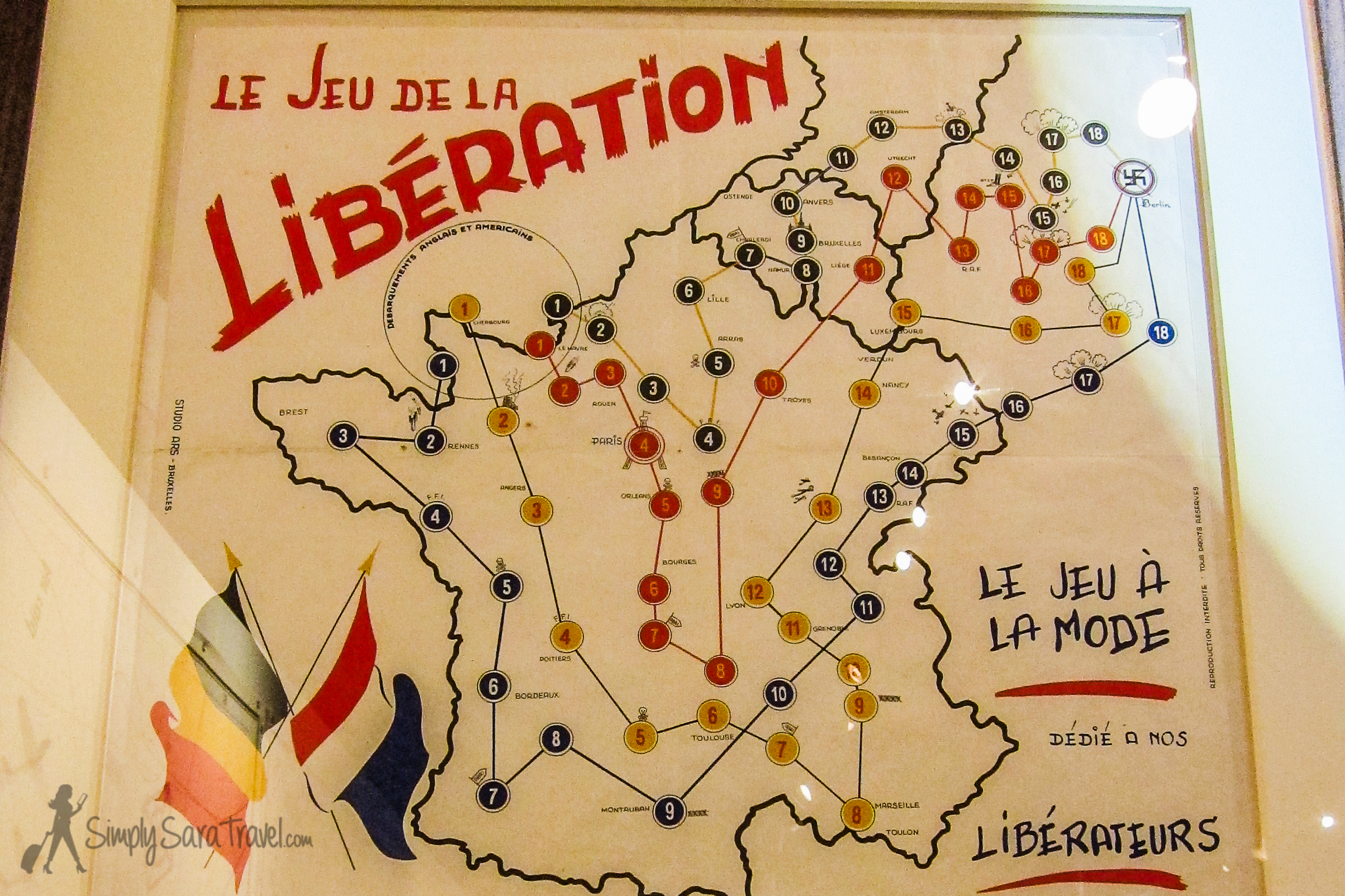 The game is dedicated to their liberators (bottom right).