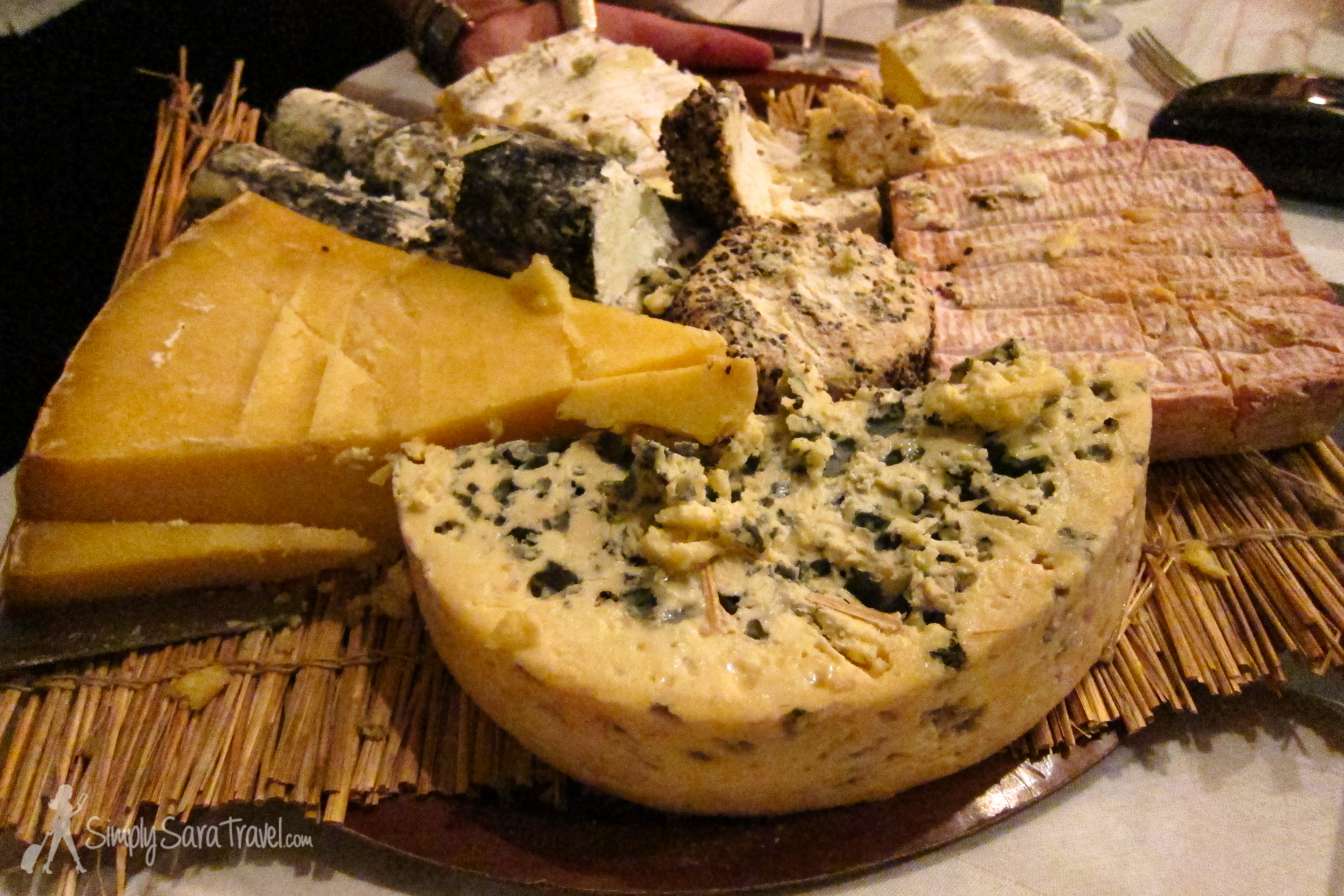 I love that the French have an additional course included in a proper dinner: the cheese course. Check out that  fromage  at Paris bistrot À La Biche Au Bois
