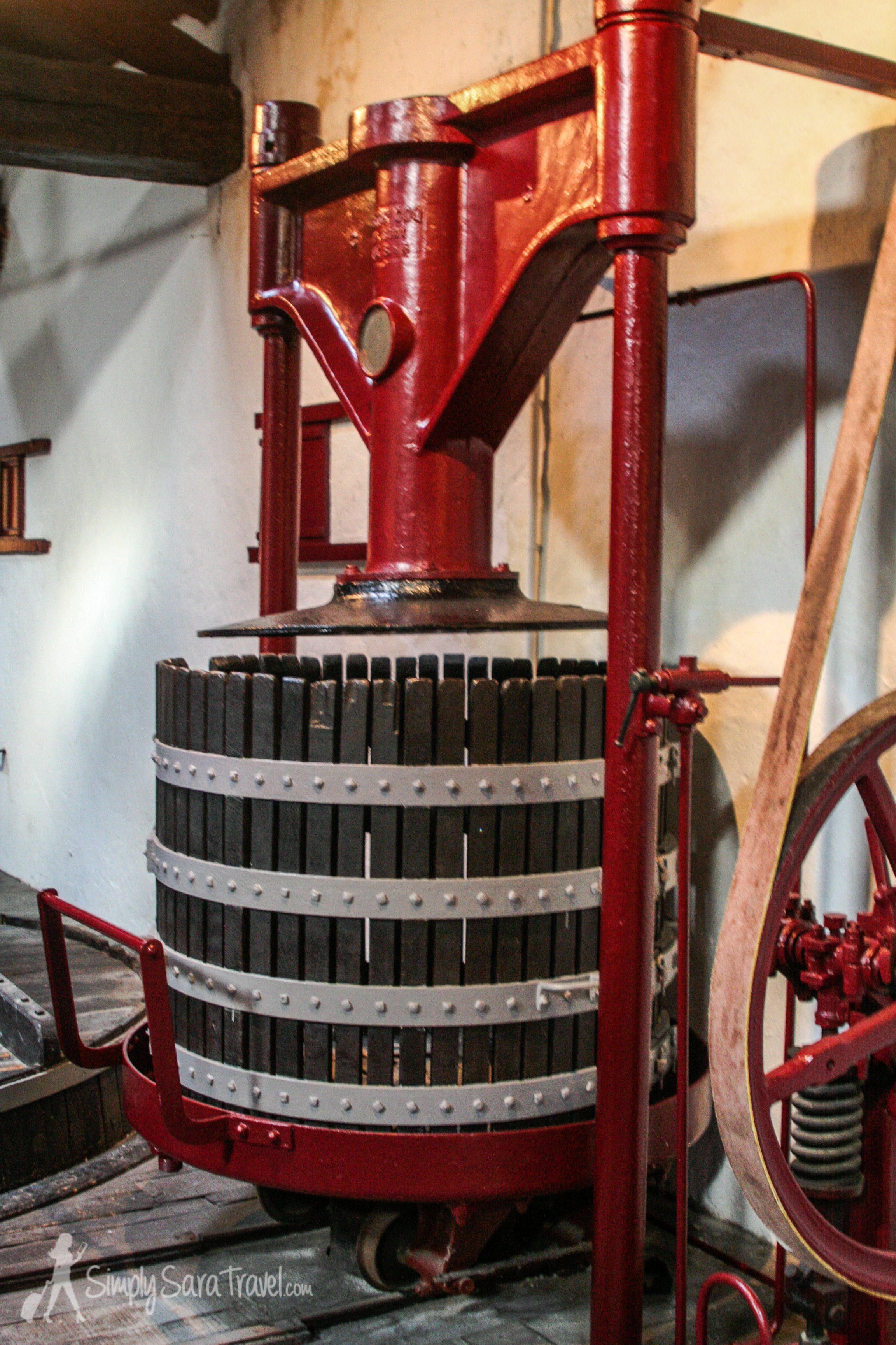 Check out that old wine press!