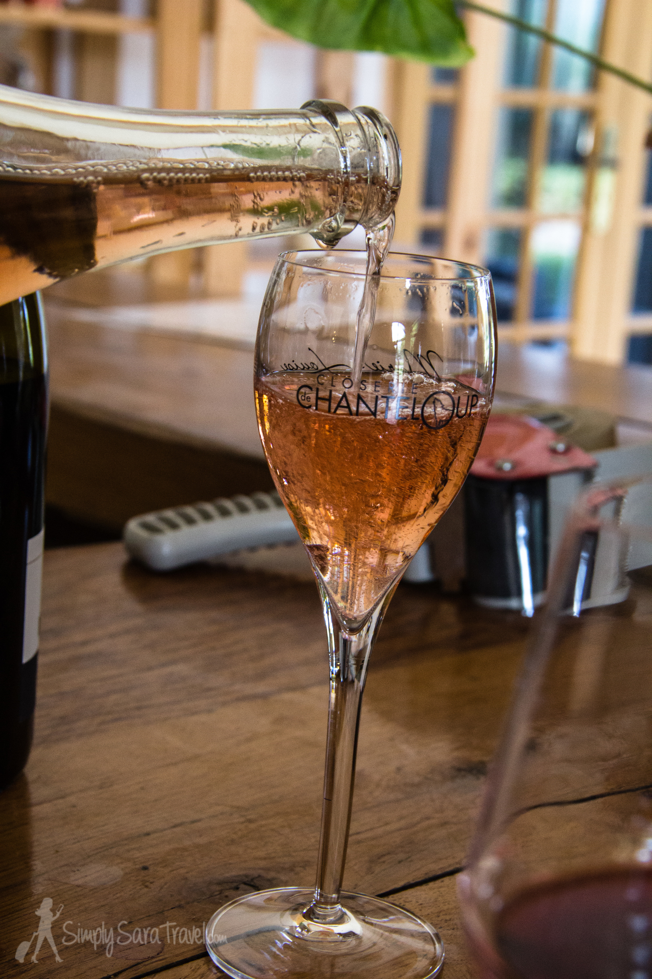 This was the favorite - theCuvée Marie-Louise Rose, a light sparkling wine.
