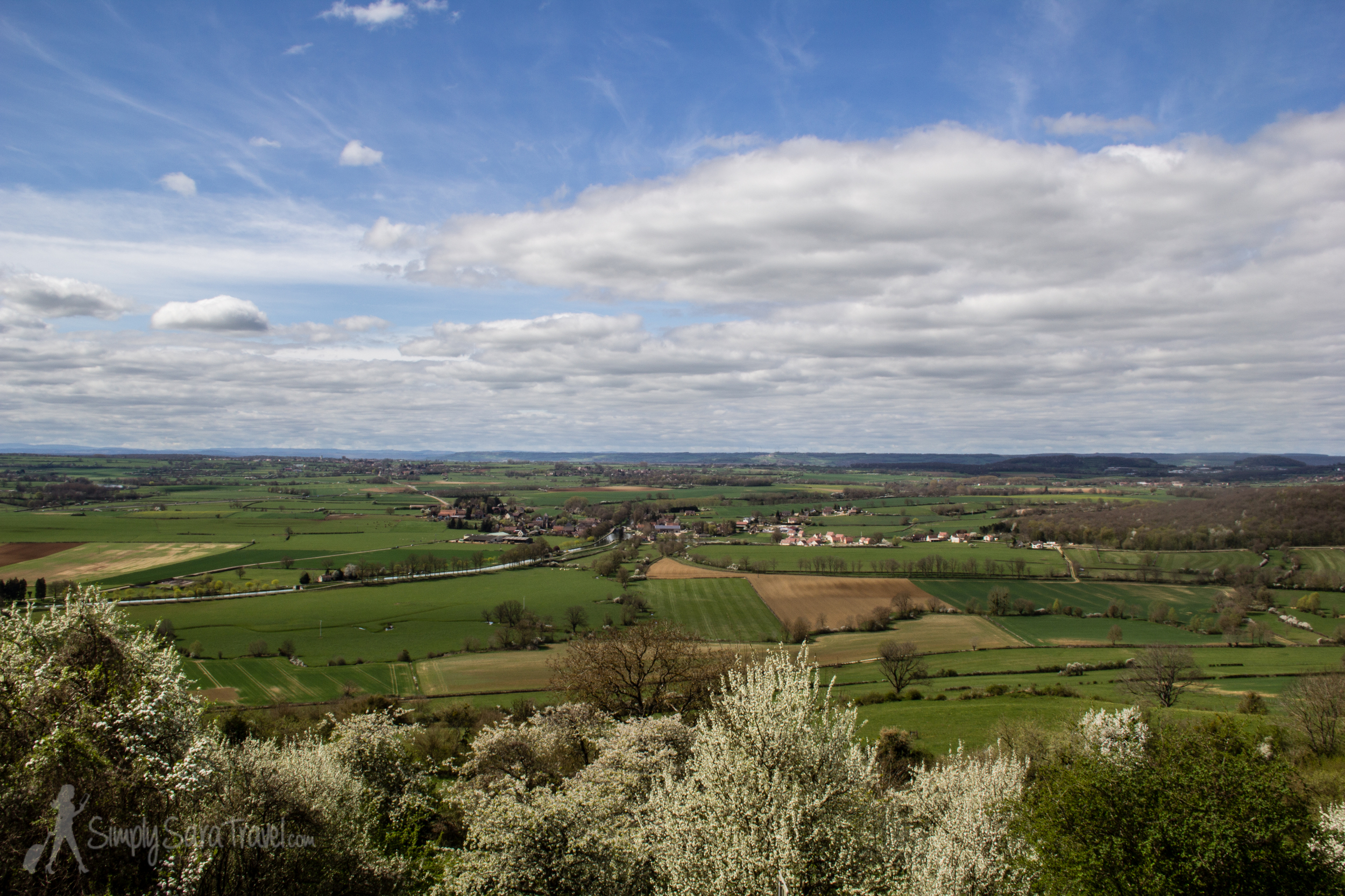 We took a look at the view of the countryside before making our way to thechâteau