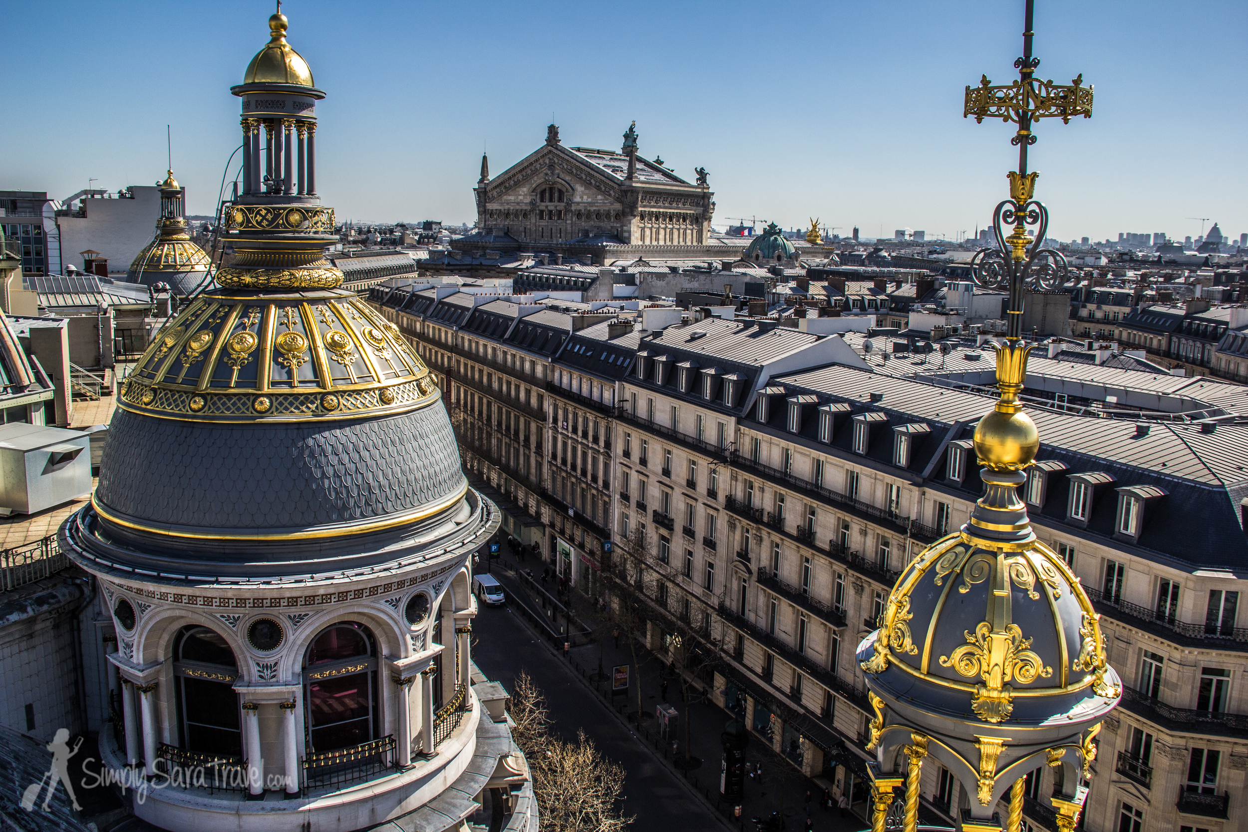 Those pretty golden domes with the Palais Garnier  in the background