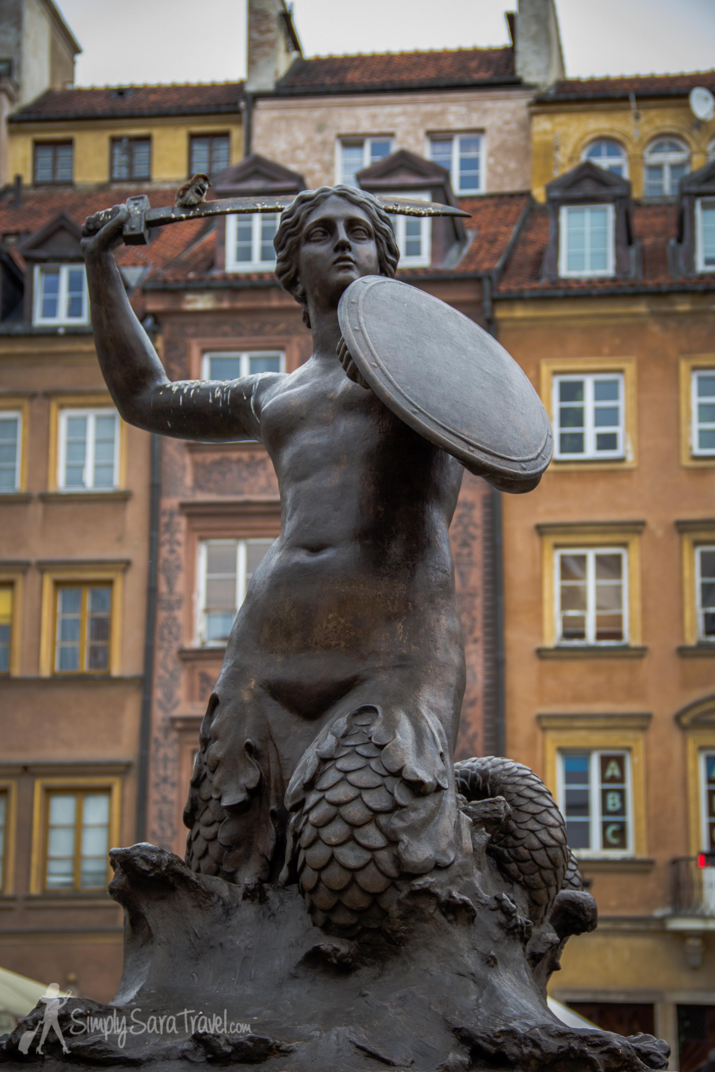 The symbol of Warsaw, a fierce mermaid