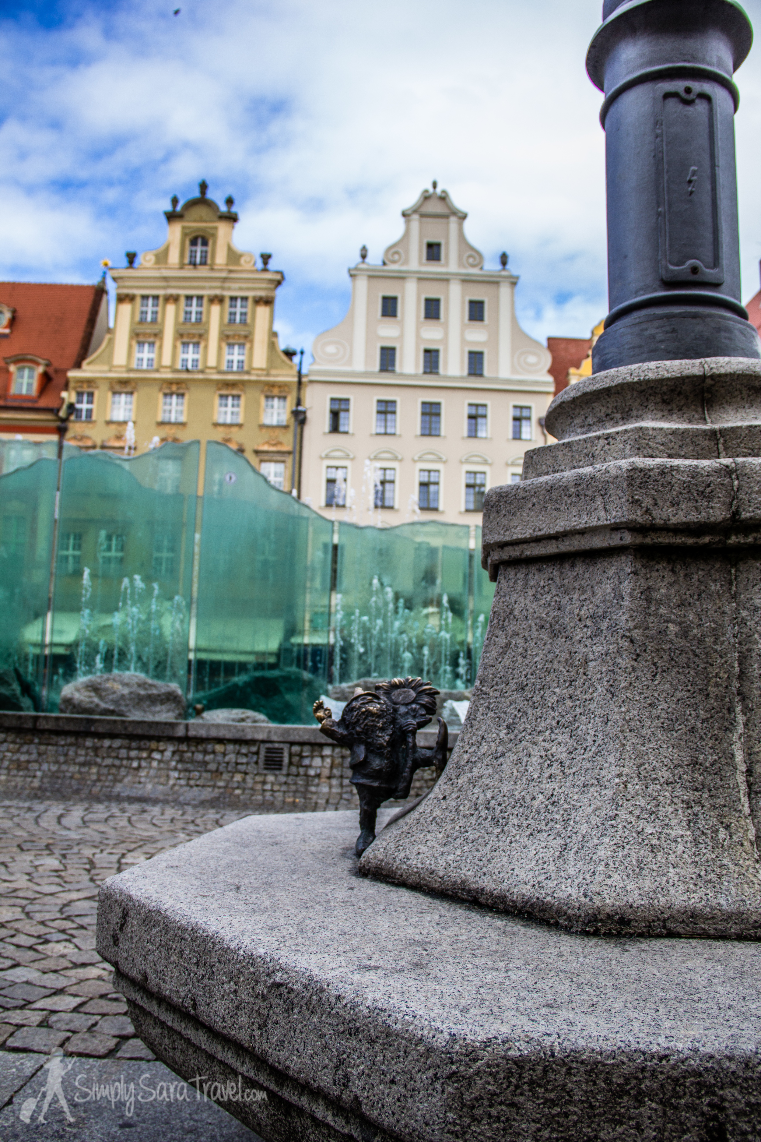 """The first gnome I found in Wroclaw - his name apparently is """" Well-Wisher ."""""""