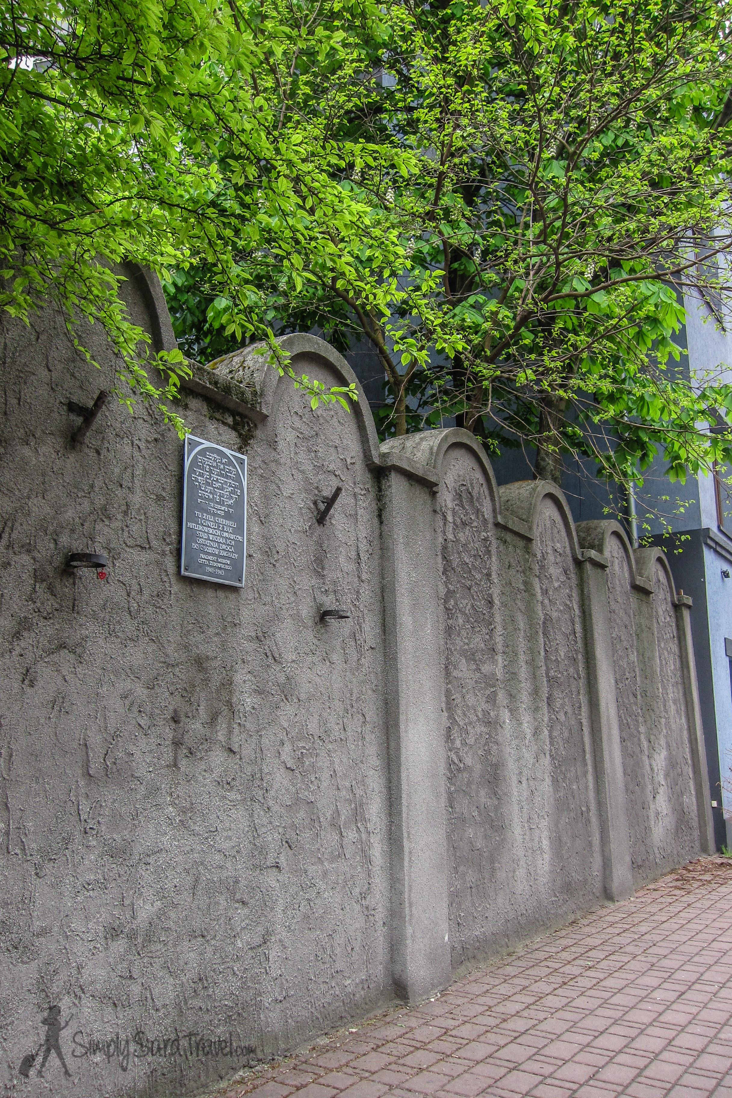Notice how the wall looks like a line of tombstones.