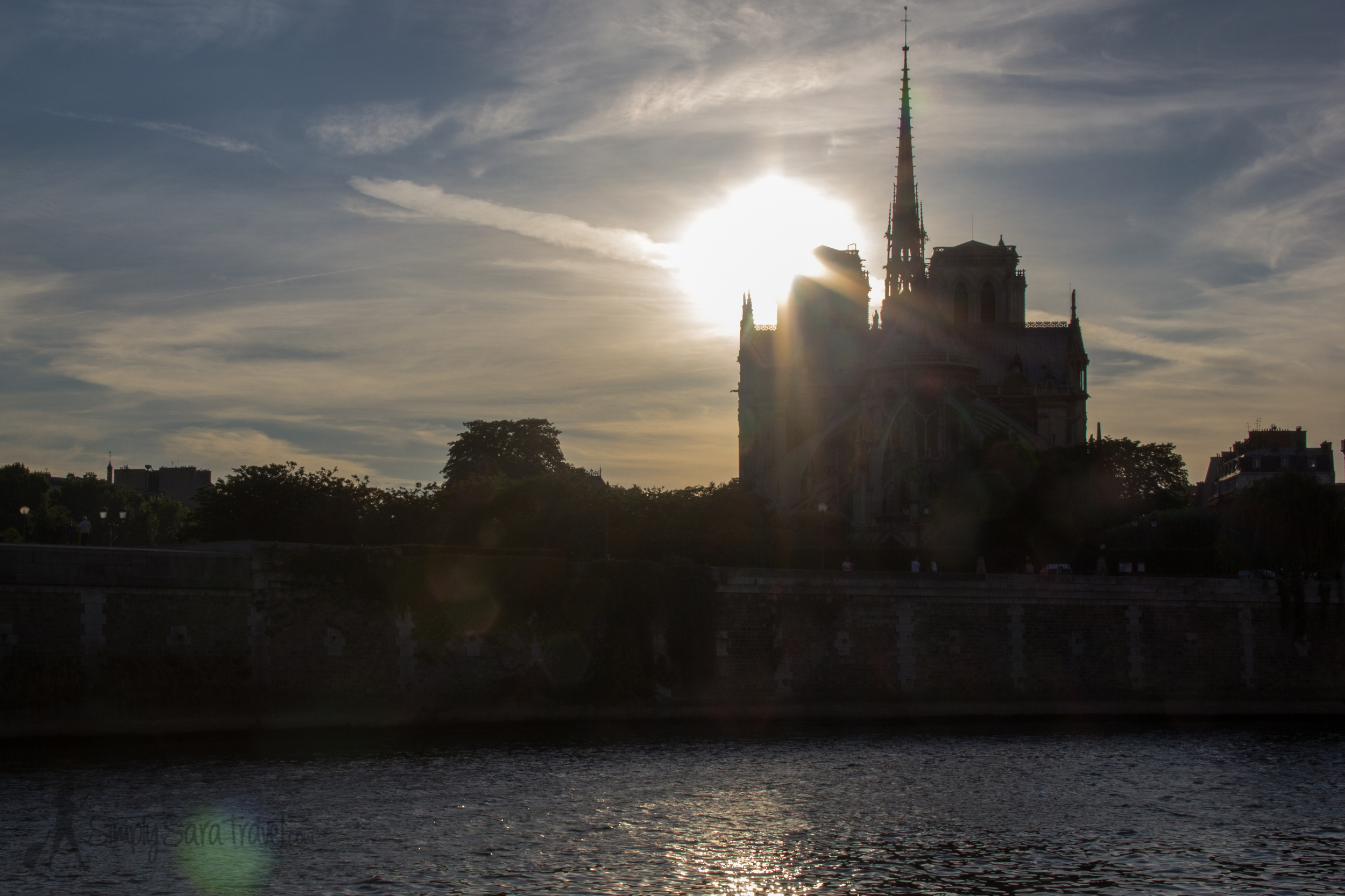 Notre Dame as seen from Ile Saint-Louis