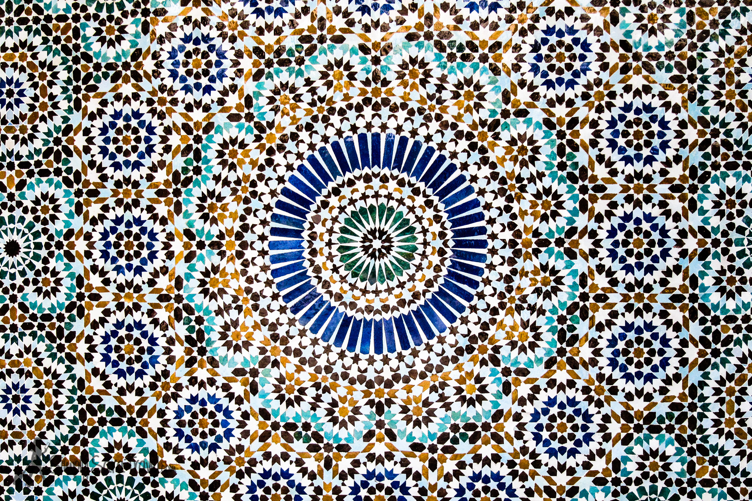 Tile in the Grande Mosquee de Paris