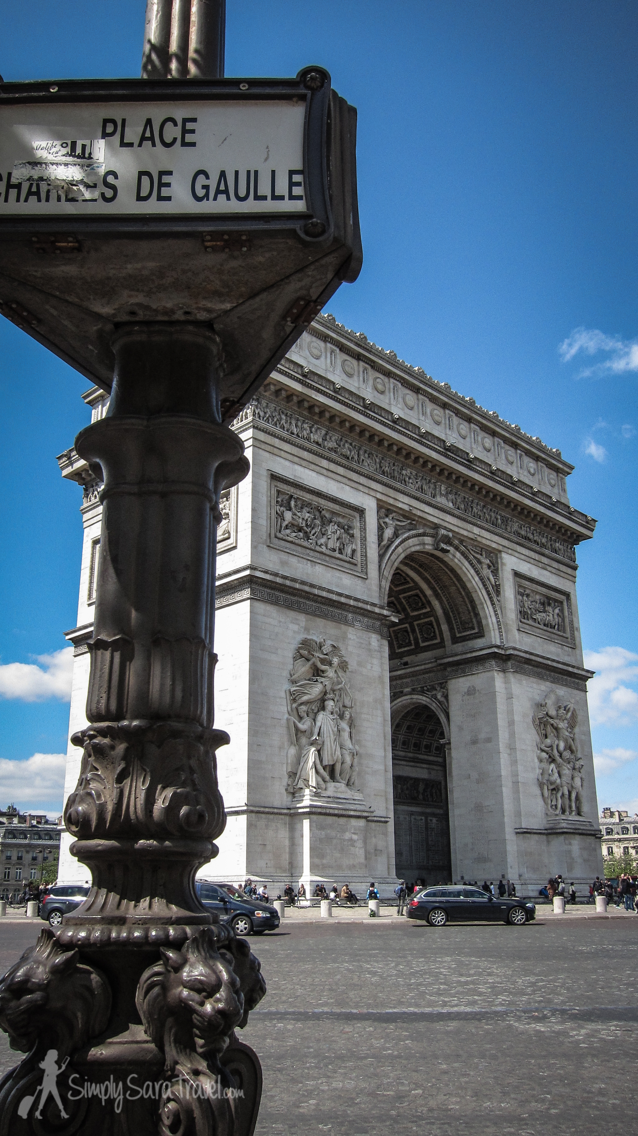 Place Charles de Gaulle and Arc de Triomphe