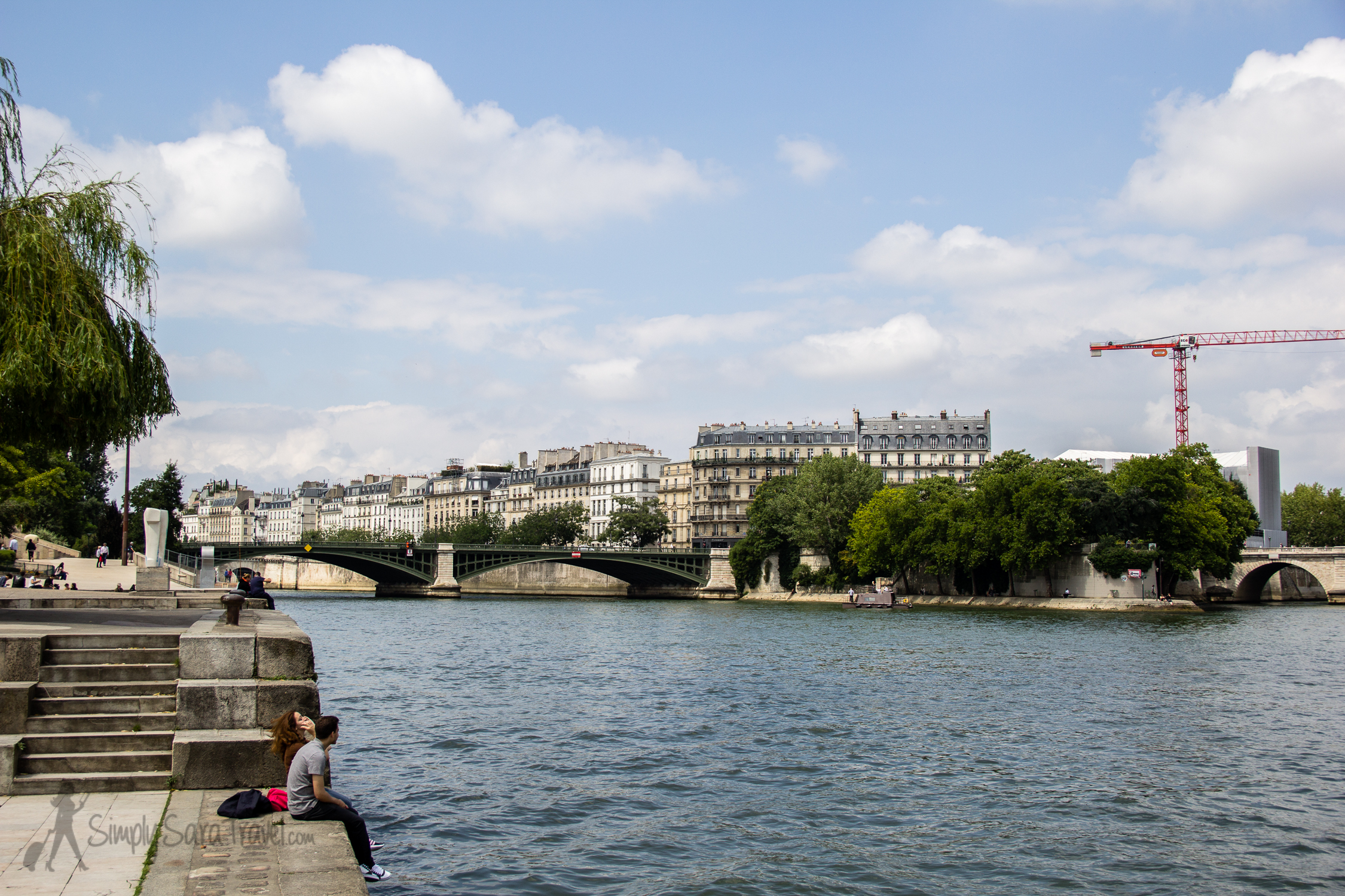 The view along the Seine from Jardin Tino-Rossi, Paris