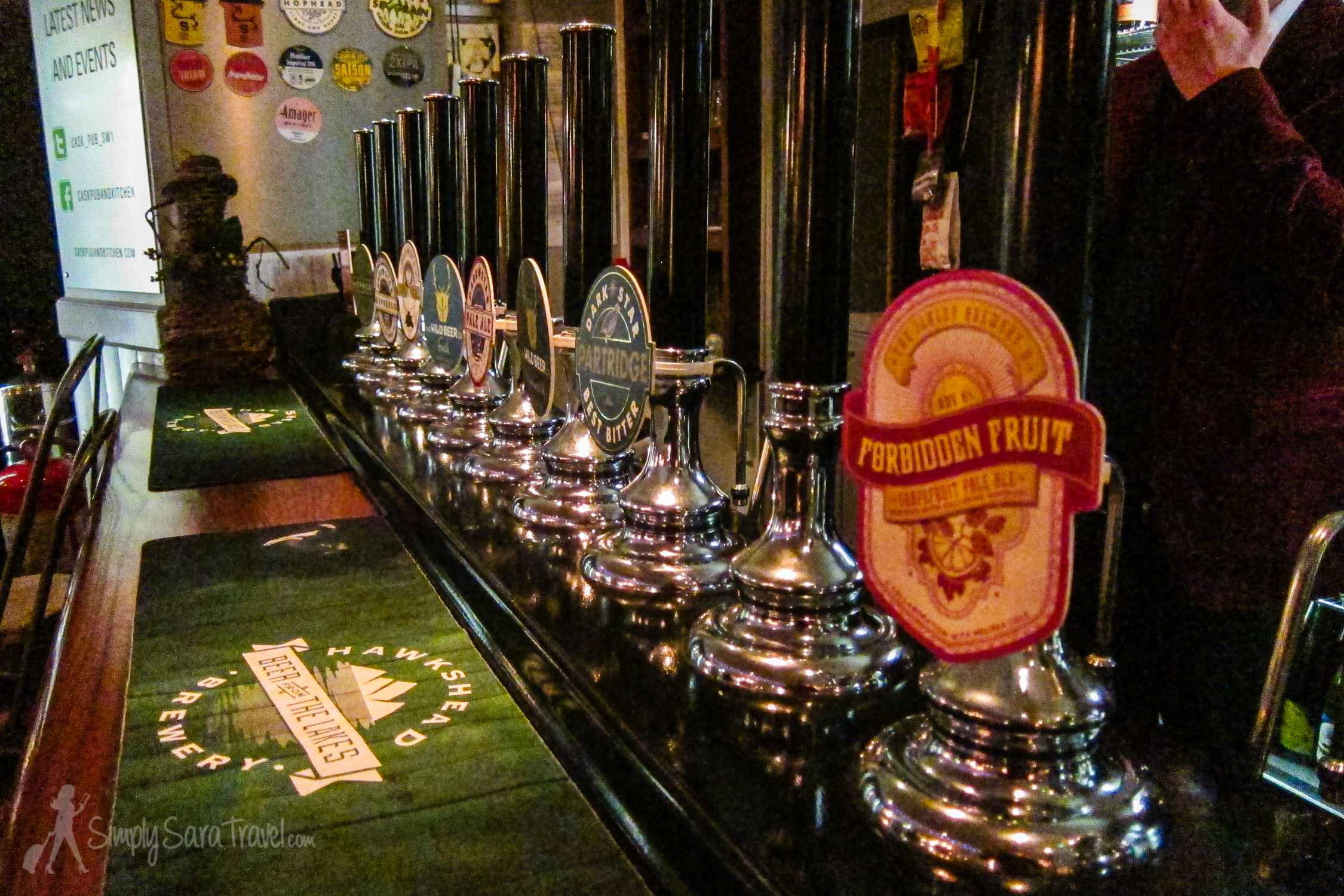 Beer taps at CASK Pub and Kitchen, London