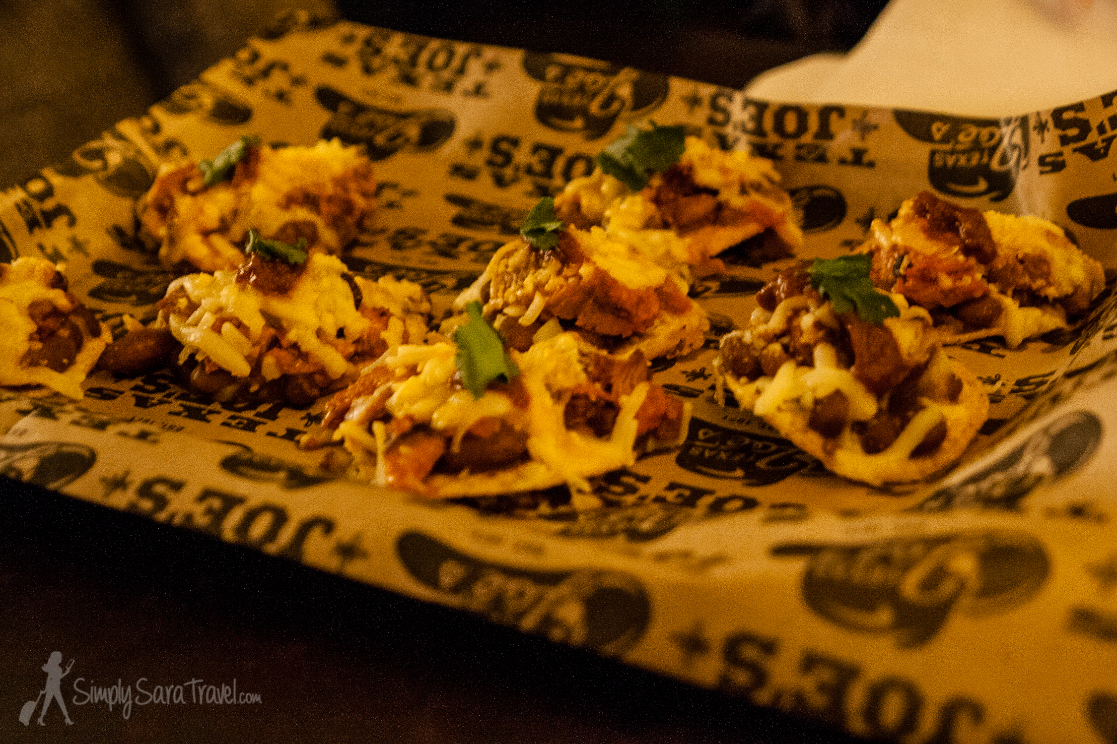 The food here is yummy too. Check out these unusual nachos we got as a snack. Small but filling!