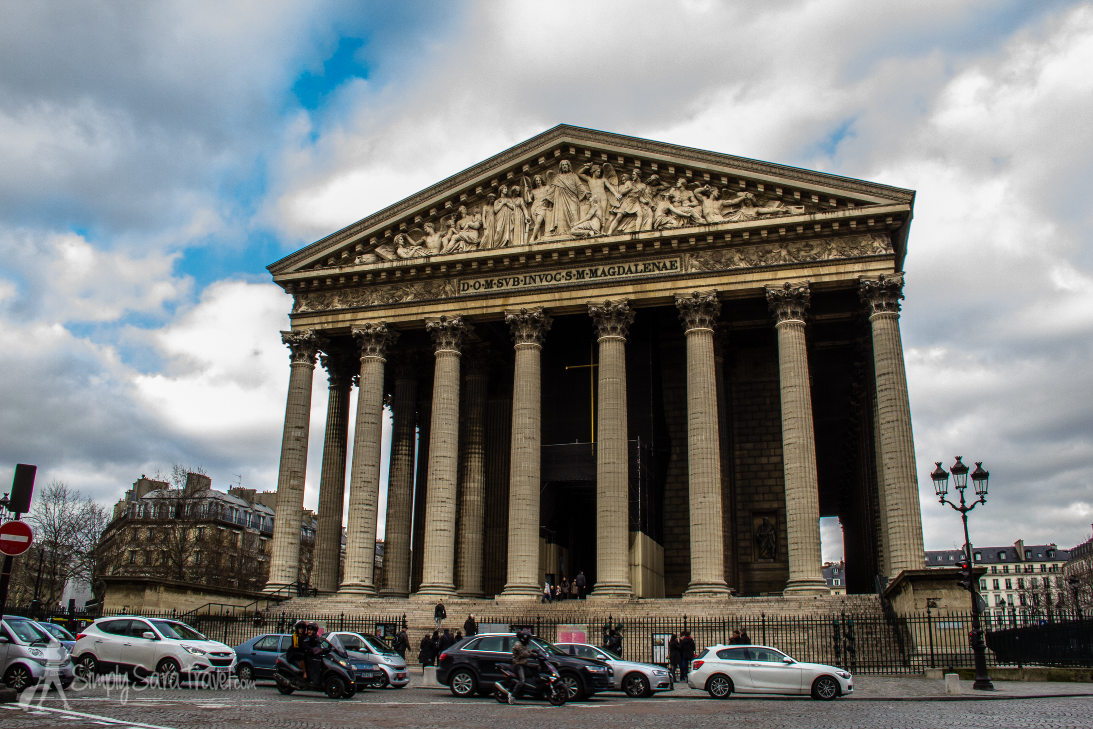 Outside La Madeleine, Paris