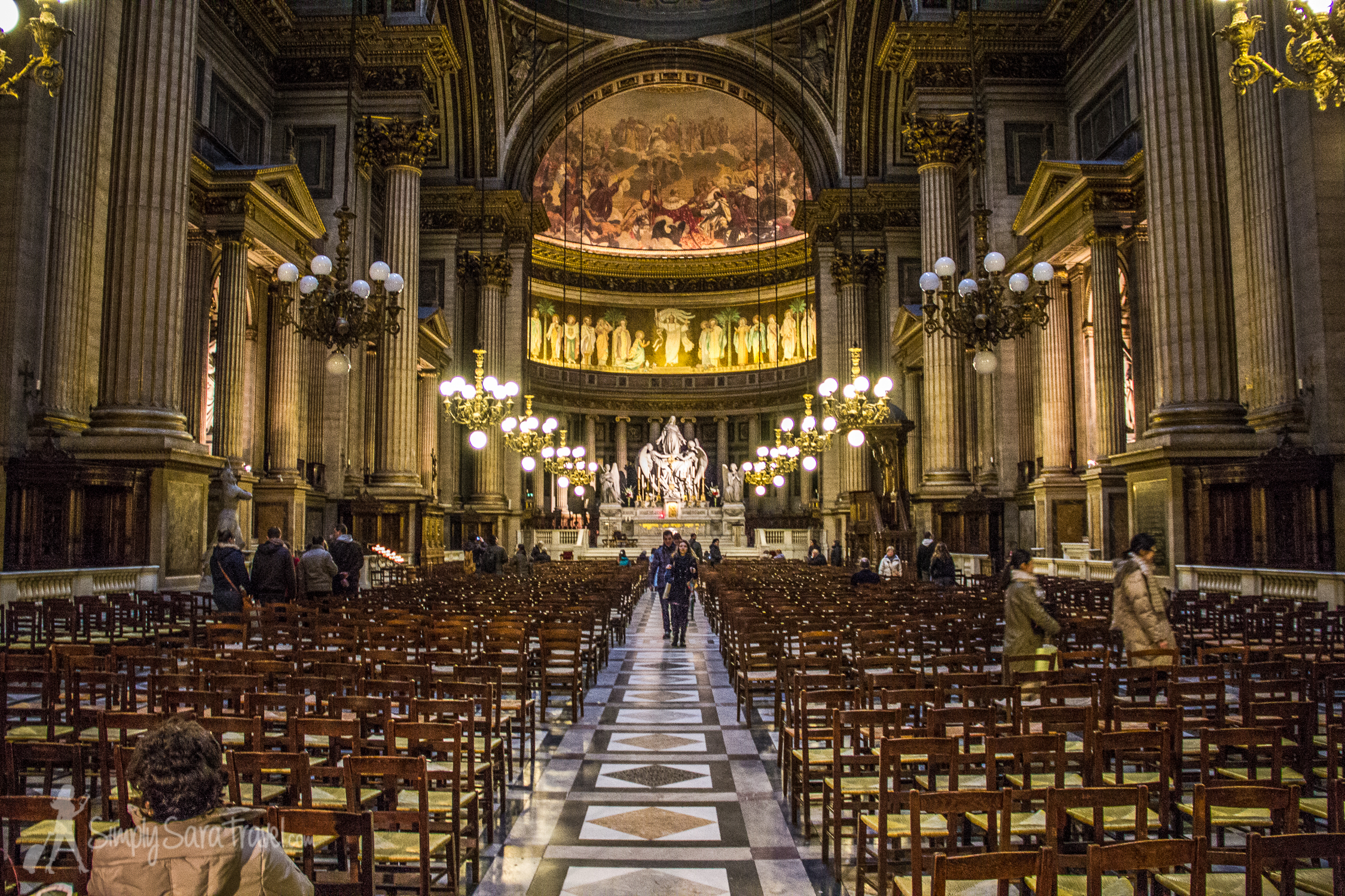 A look down the nave of La Madeleine