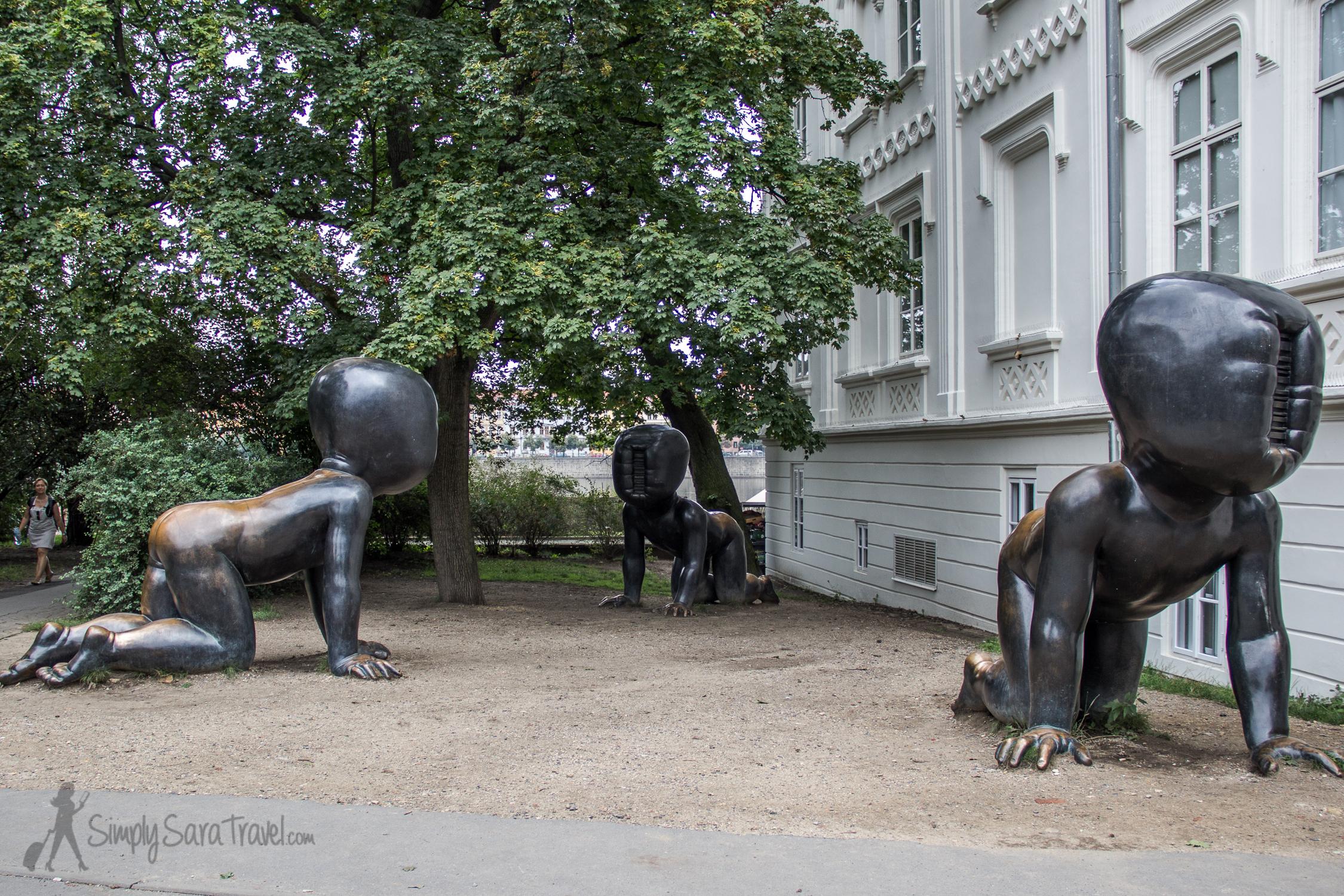 """David Cerny's """"Babies"""" in Prague"""