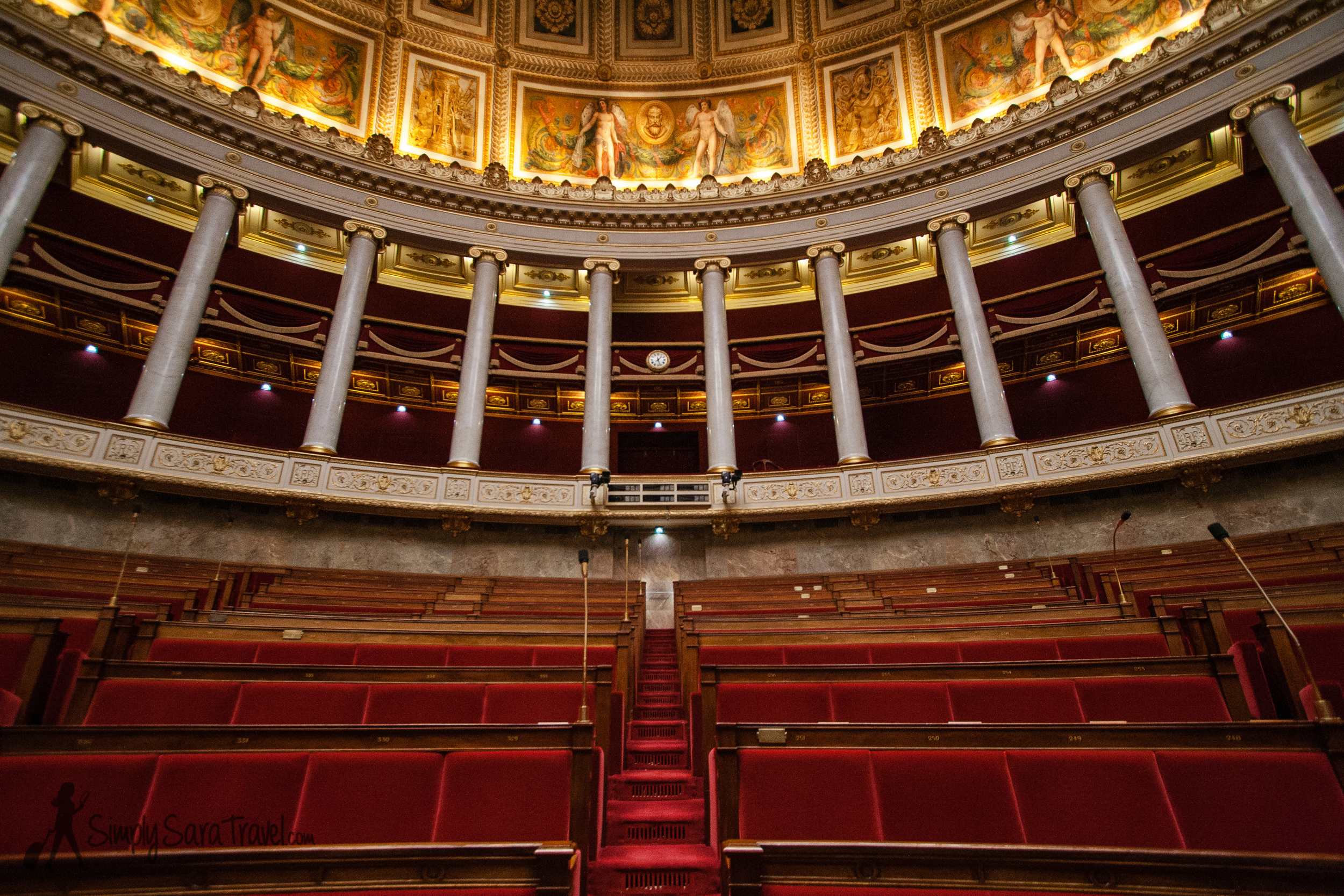 L'Assemblée Nationale, the Debating Chamber, Paris, France