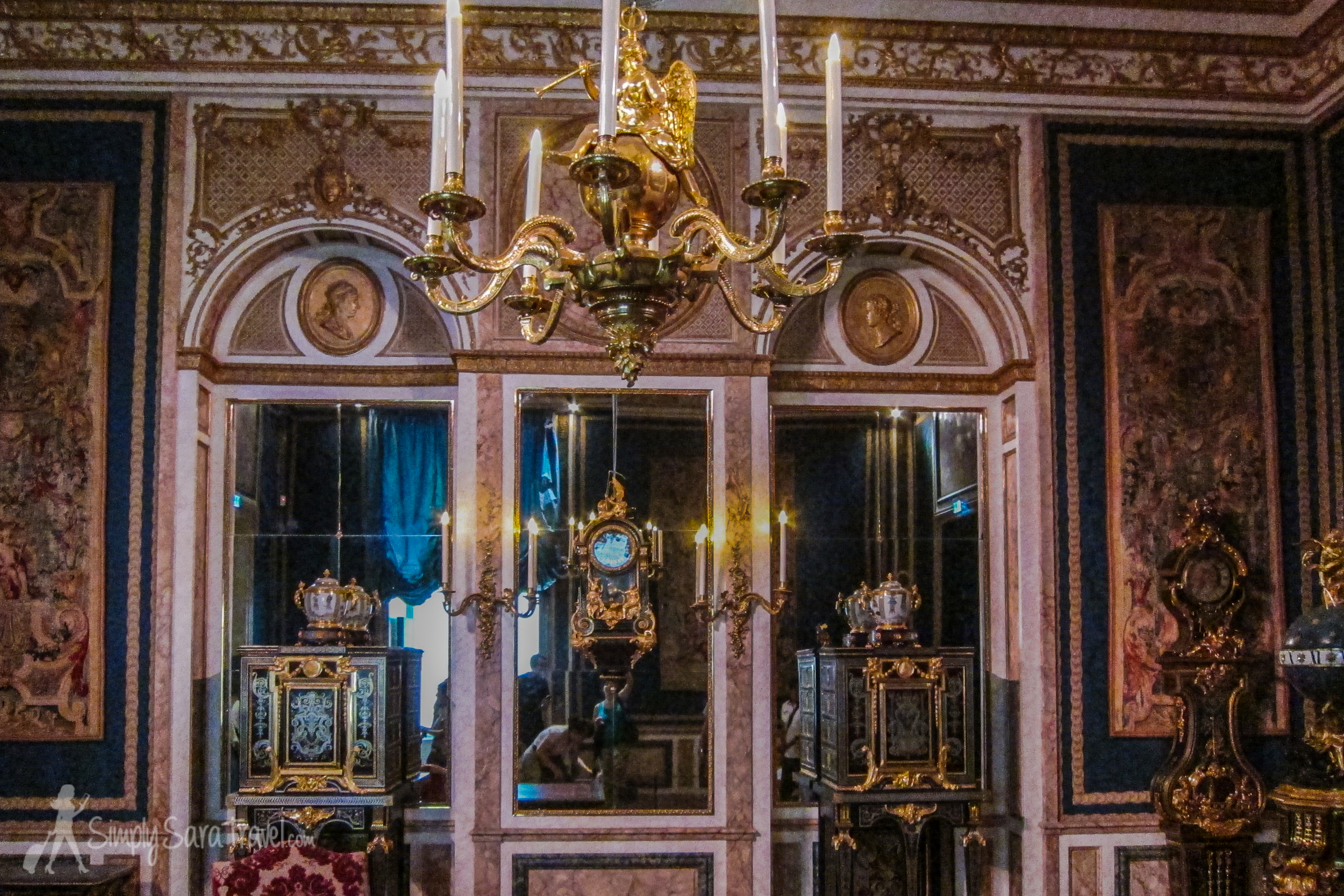 Decorative rooms at the from Louis XIV to Louis XVI collection, Louvre, Paris