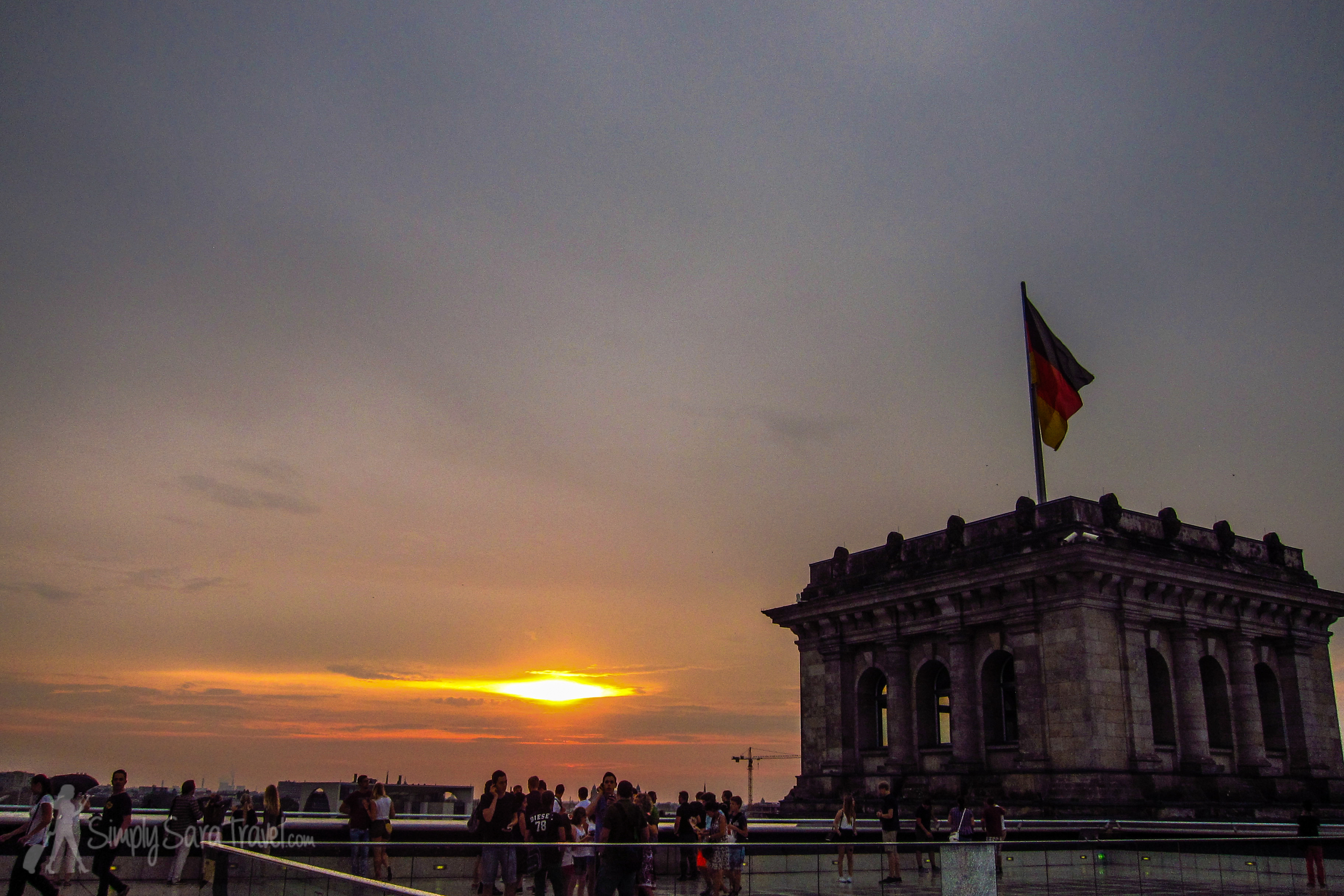 On the rooftop of the  Reichstag, Berlin