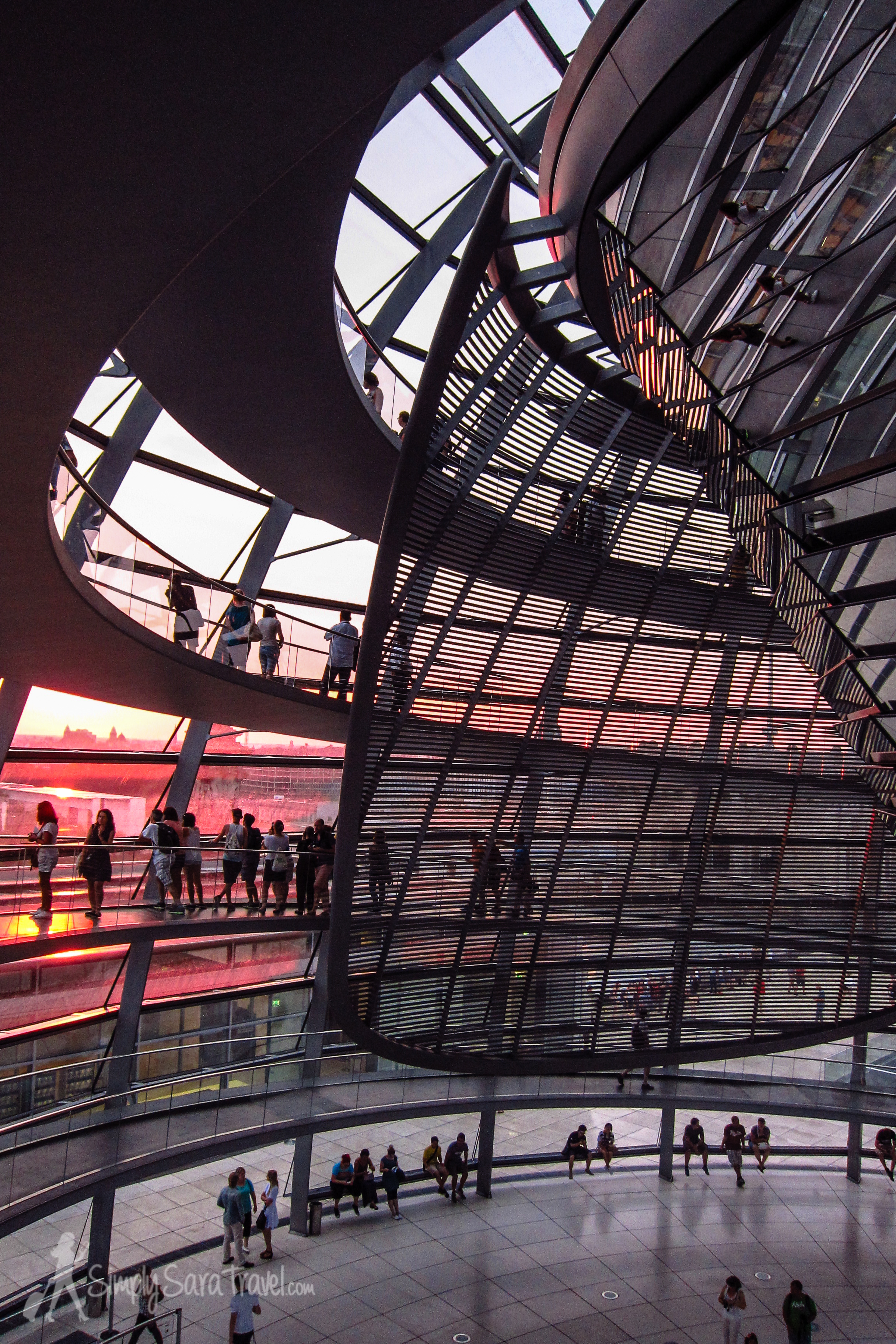 Ramps at Sunset at the Reichstag, Berlin