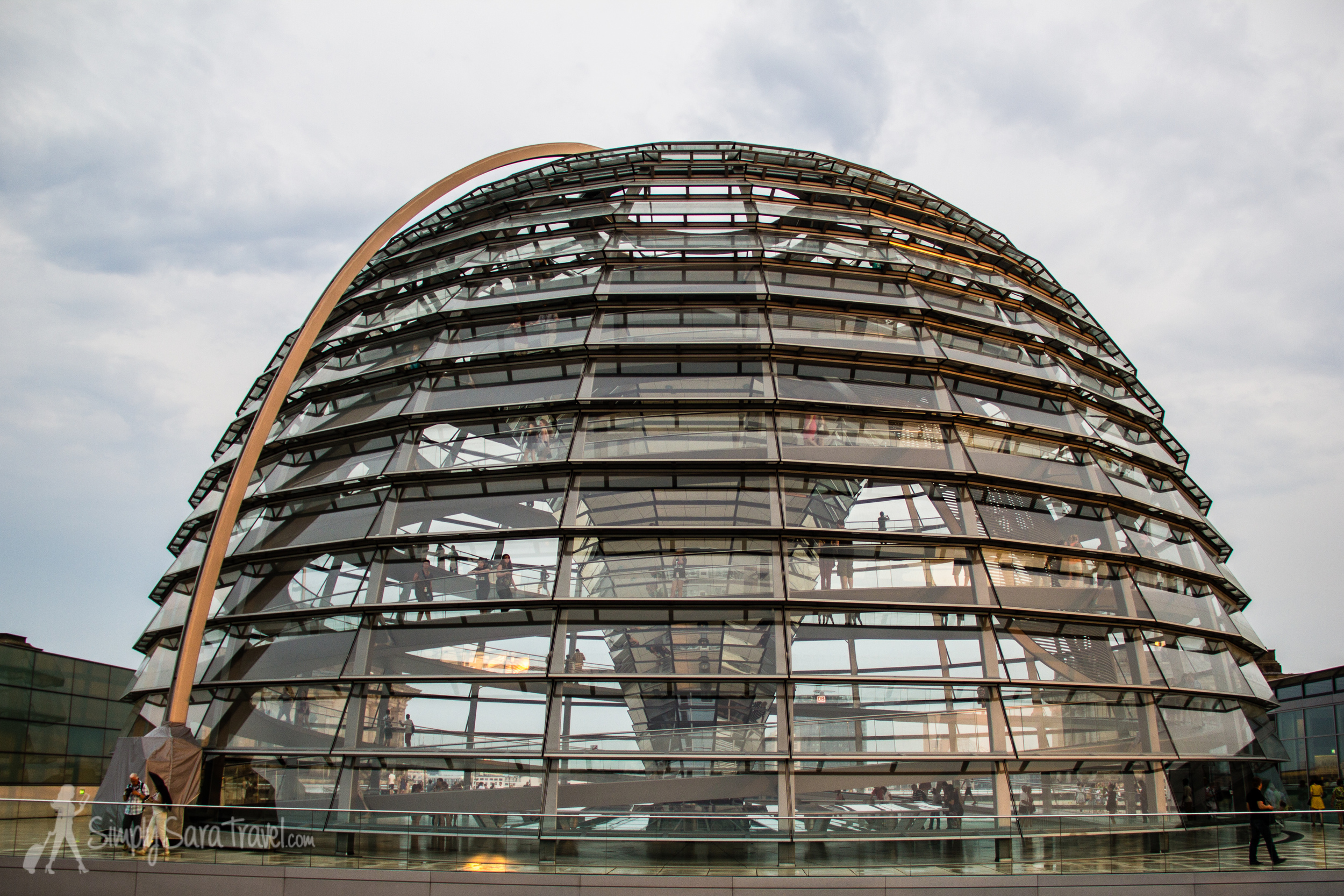 Glass dome of Berlin's Reichstag