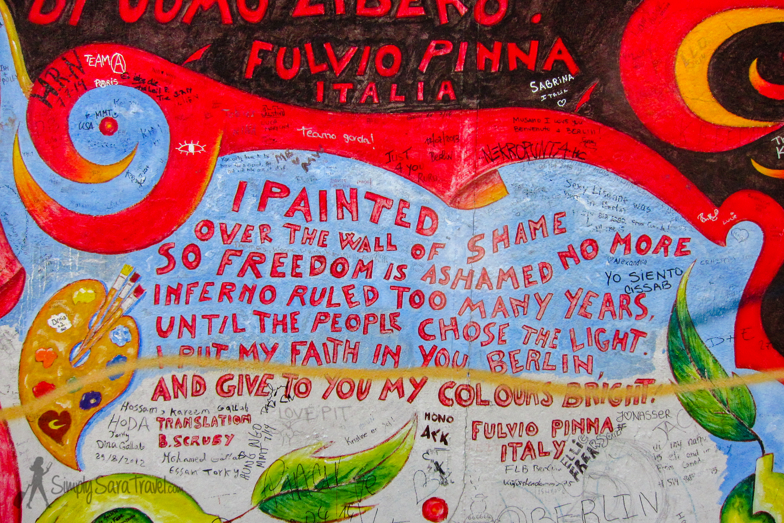 """""""I painted over the wall of shame"""" East Side Gallery, Berlin"""
