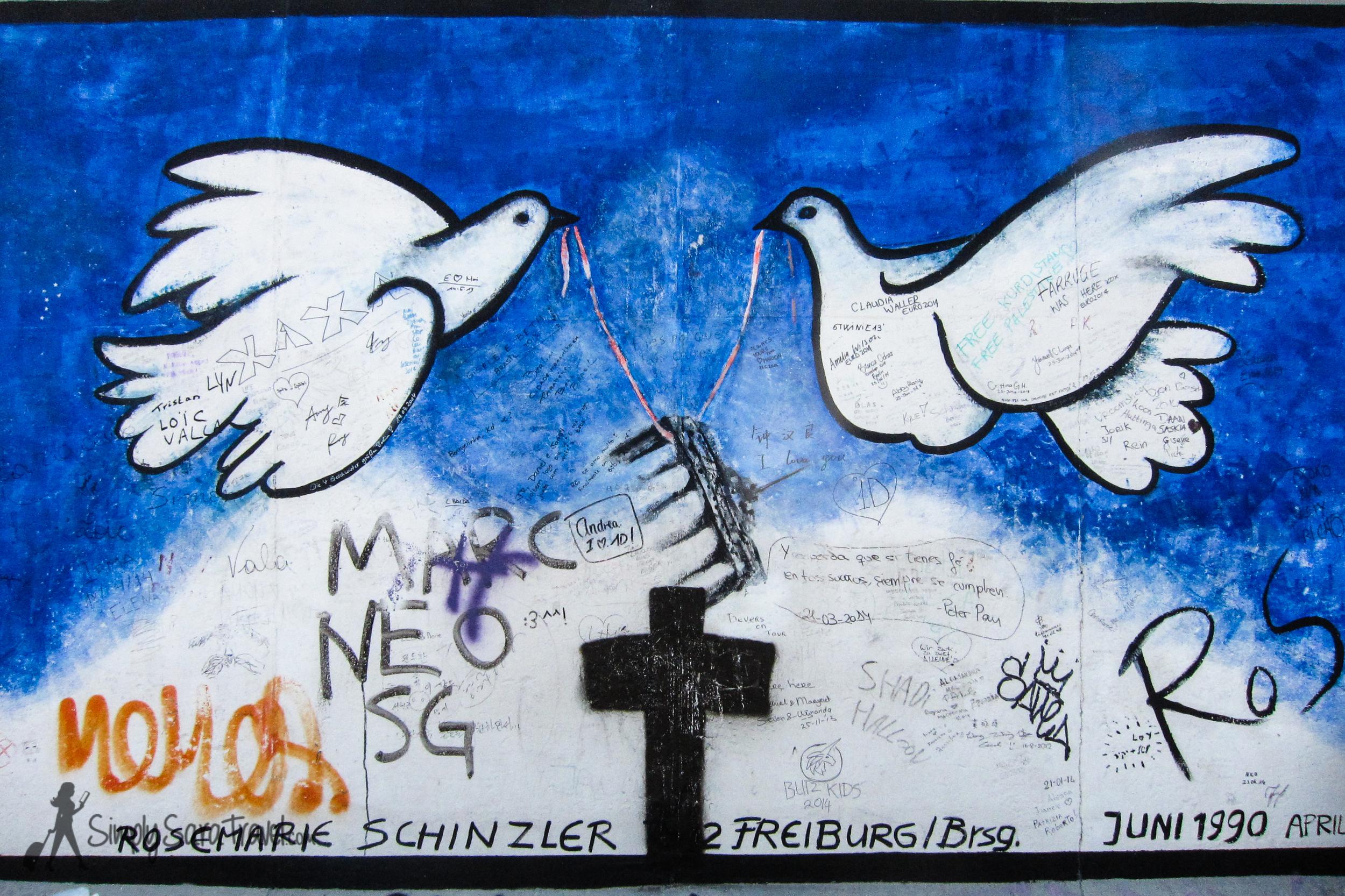 Cross on East Side Gallery Berlin Wall