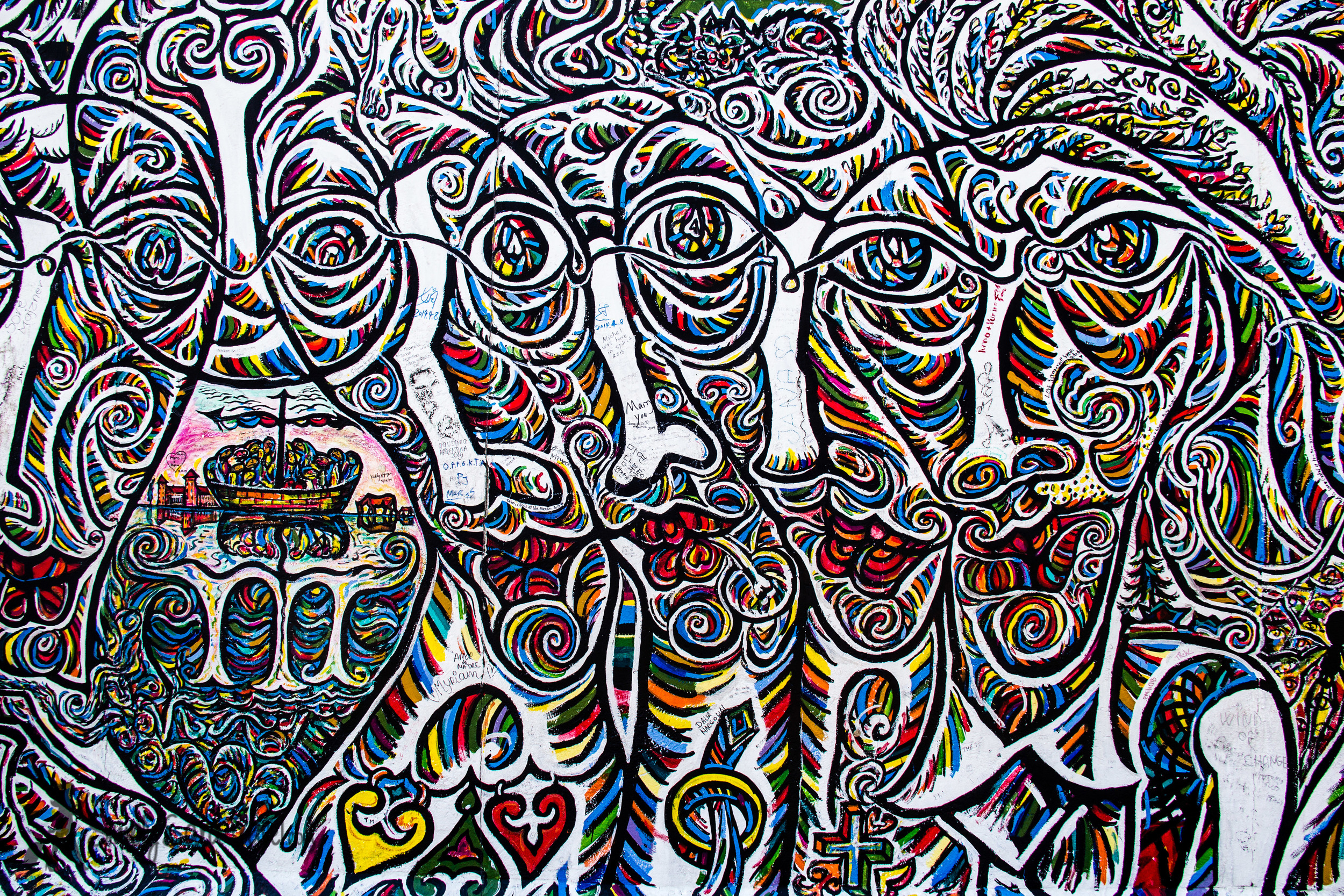 Funny faces East Side Gallery Berlin