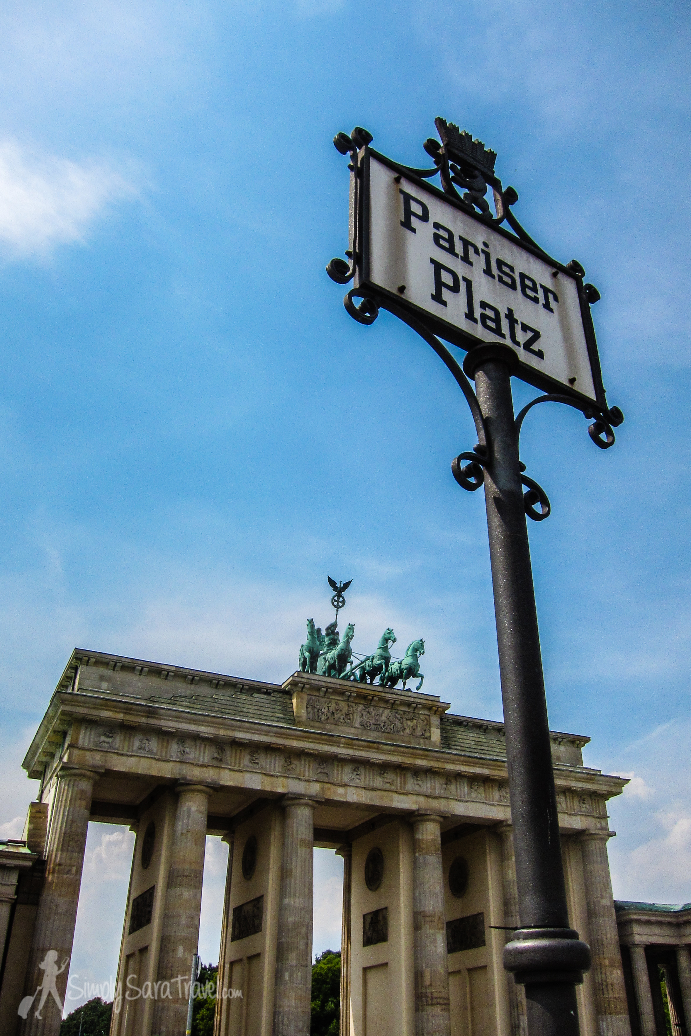A connection to Paris right at the famous Brandburg Gate! (Though this square is named Pariser Platz in celebration of victory in overthrowing Napoleon so not the warmest welcome to the French.)