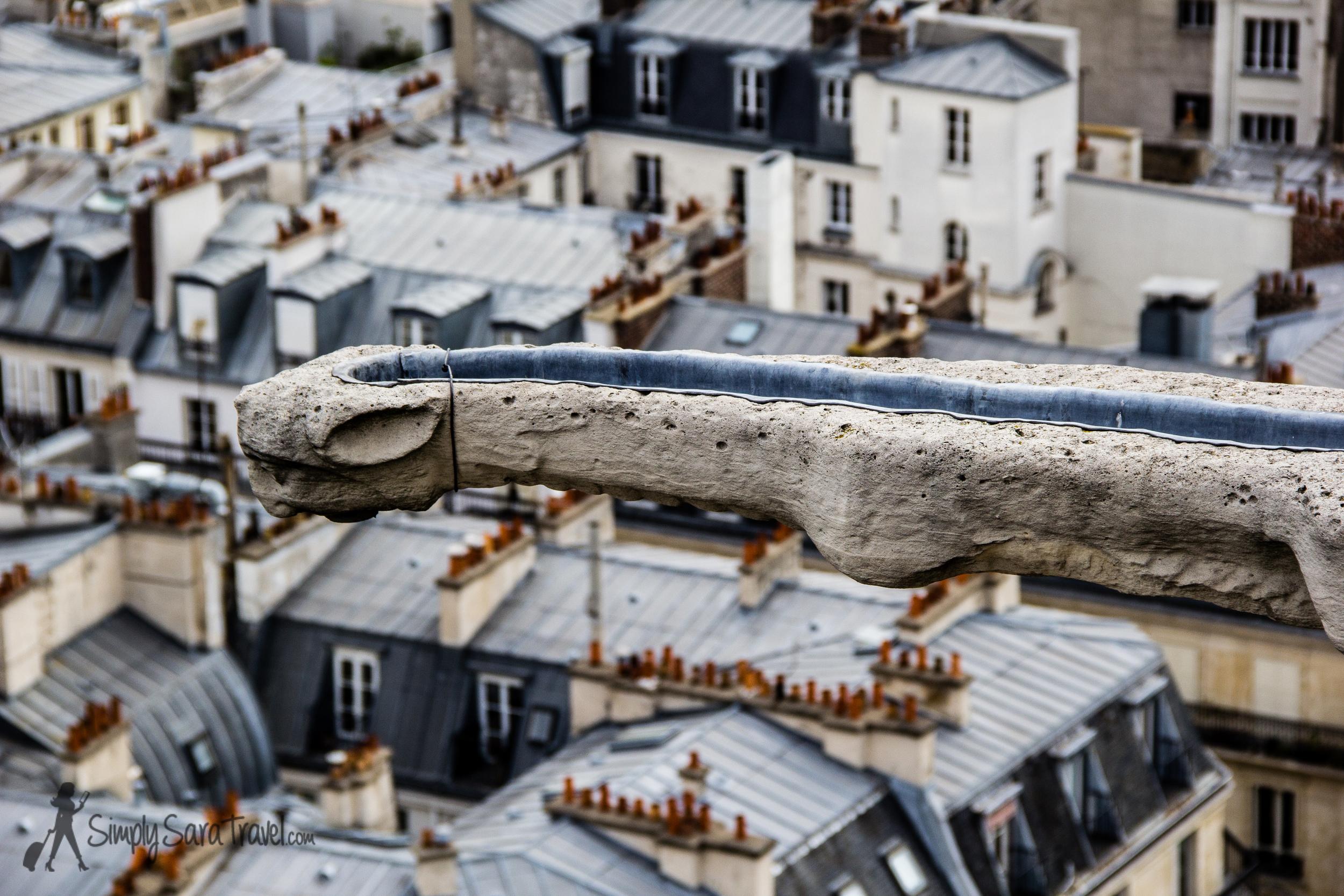 Gargoyle ofthe Tour Saint-Jacques, Paris, France