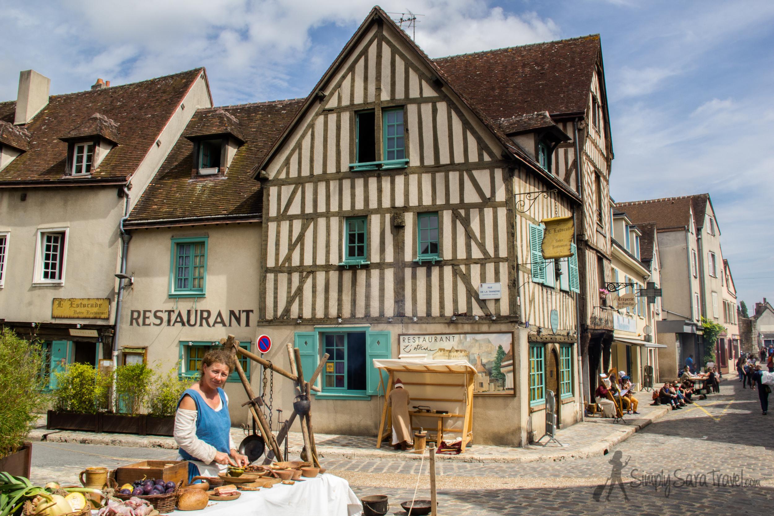 La Saint-Fiacre , a medieval festival, in Chartres, France