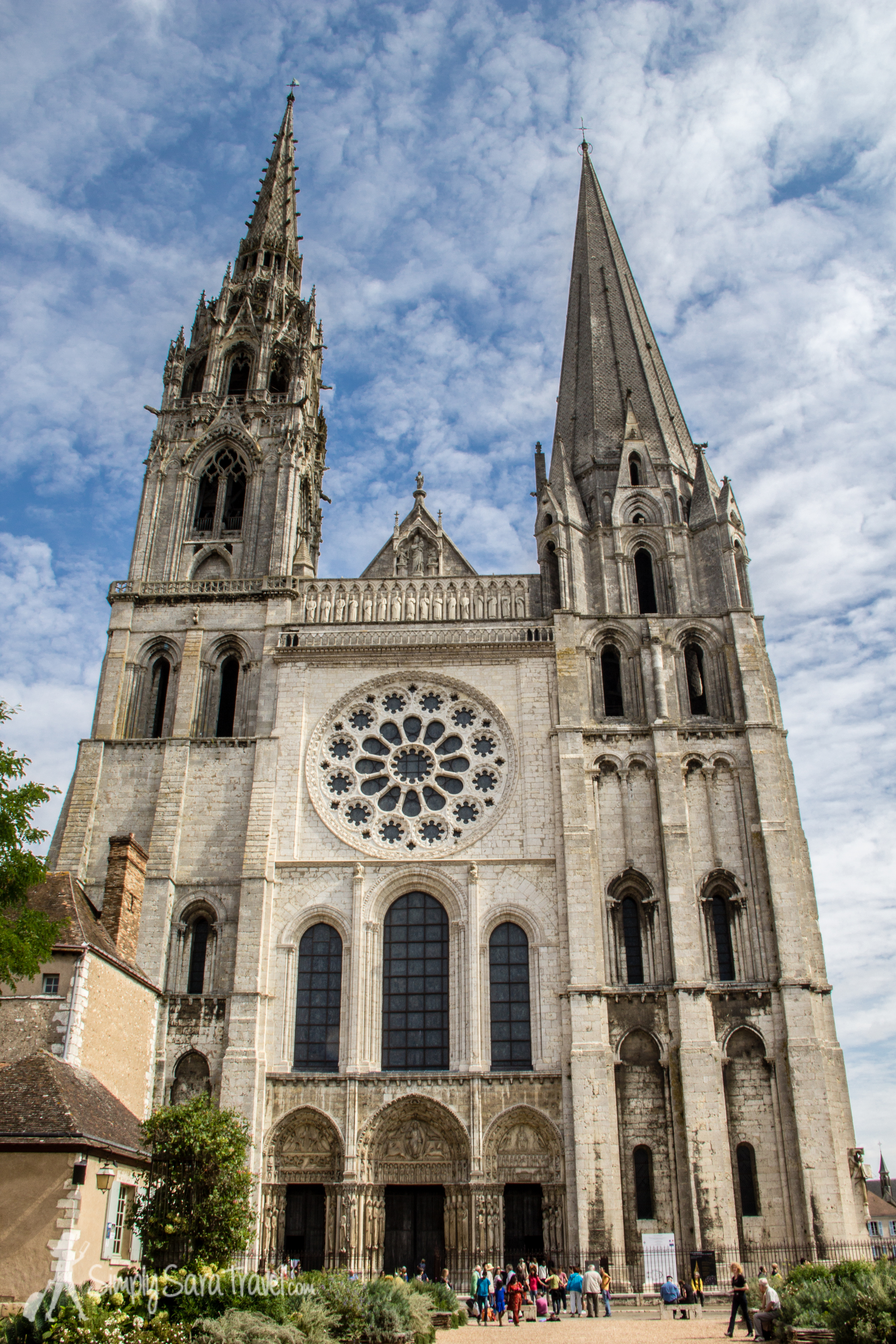 Outside the Chartres Cathedral