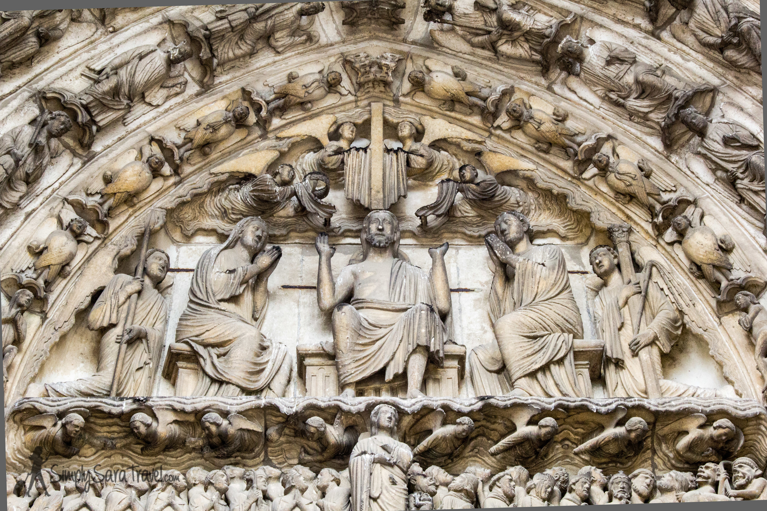 The central part of the South Porch, portraying the Last Judgement.