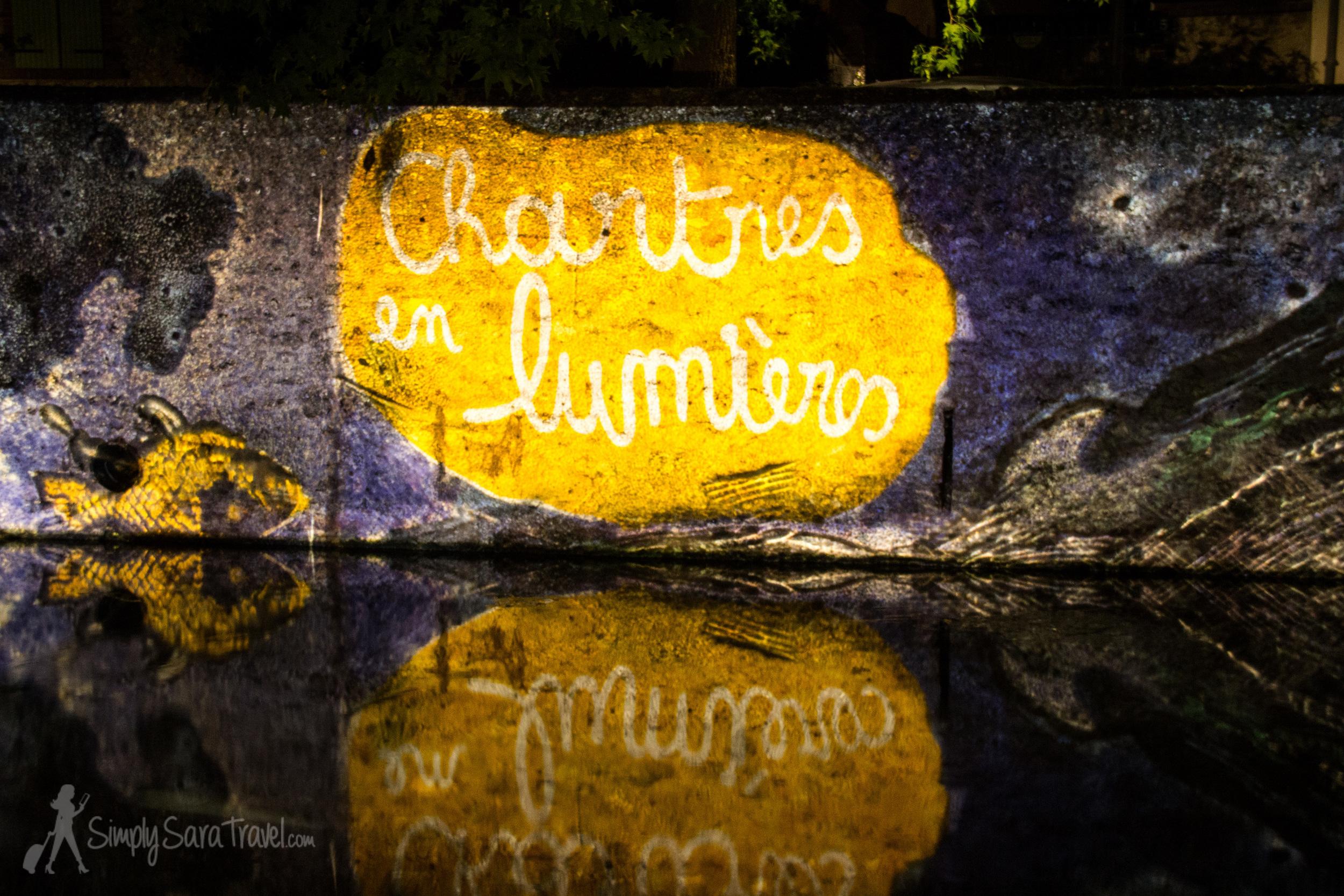 Chartres en Lumières on the river, 2014