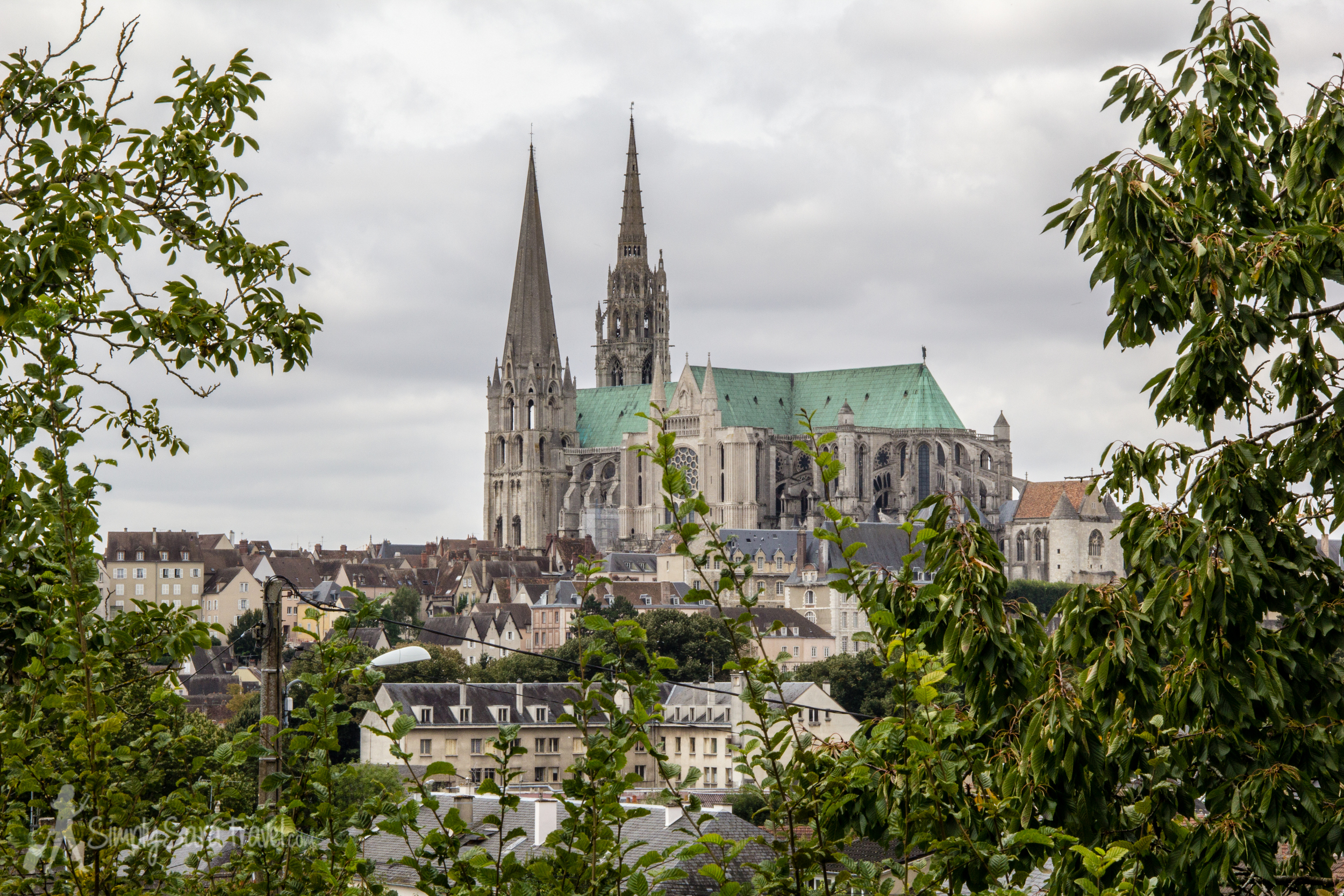 This is pretty much the only view we got in theJardin de Sakurai - a nice one, but keep moving on for a better spot. Especially considering that the garden itself isn't really anything special to see, so all it has to offer is this viewpoint of the church.
