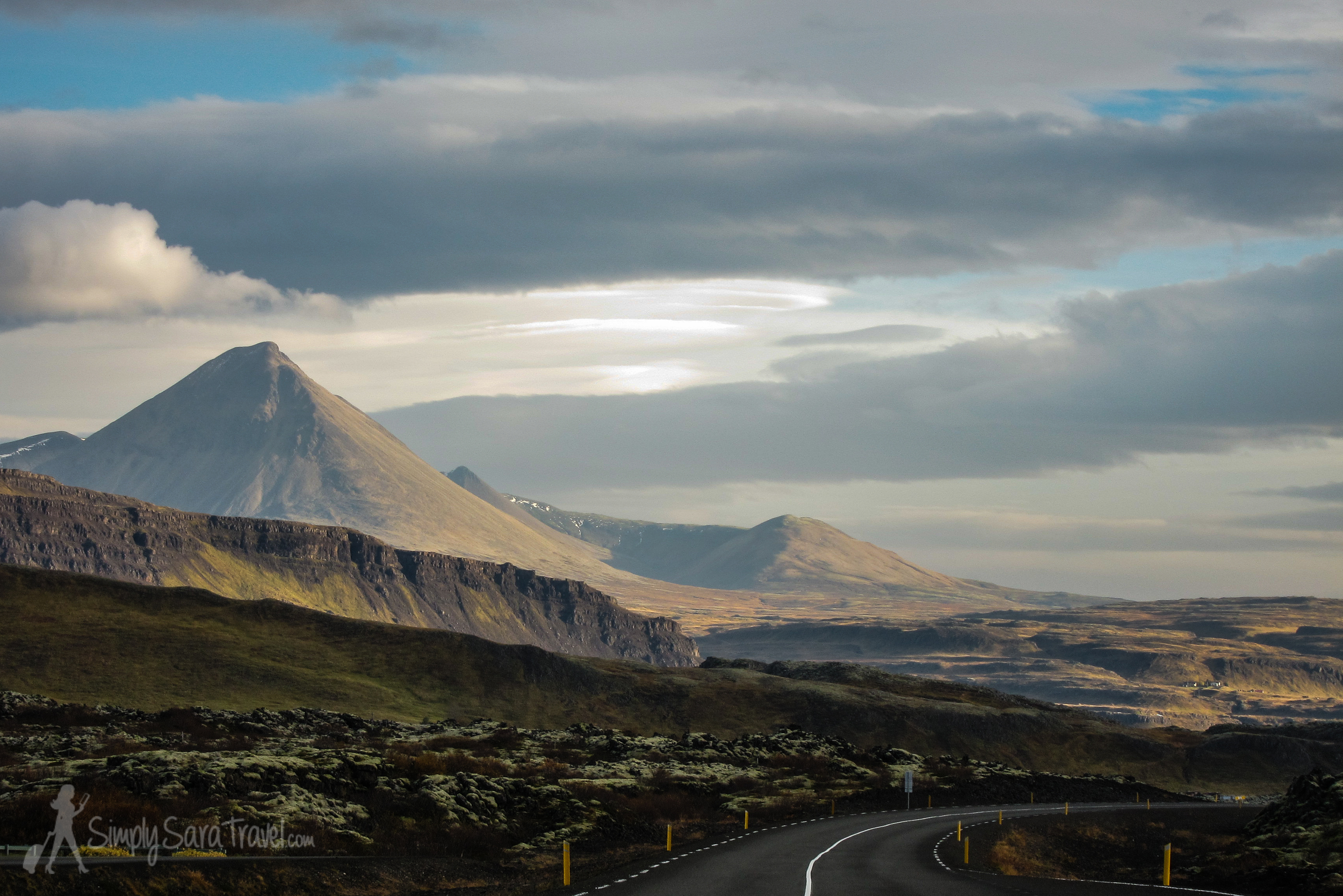 Mountains of Iceland as seen from the Ring Road