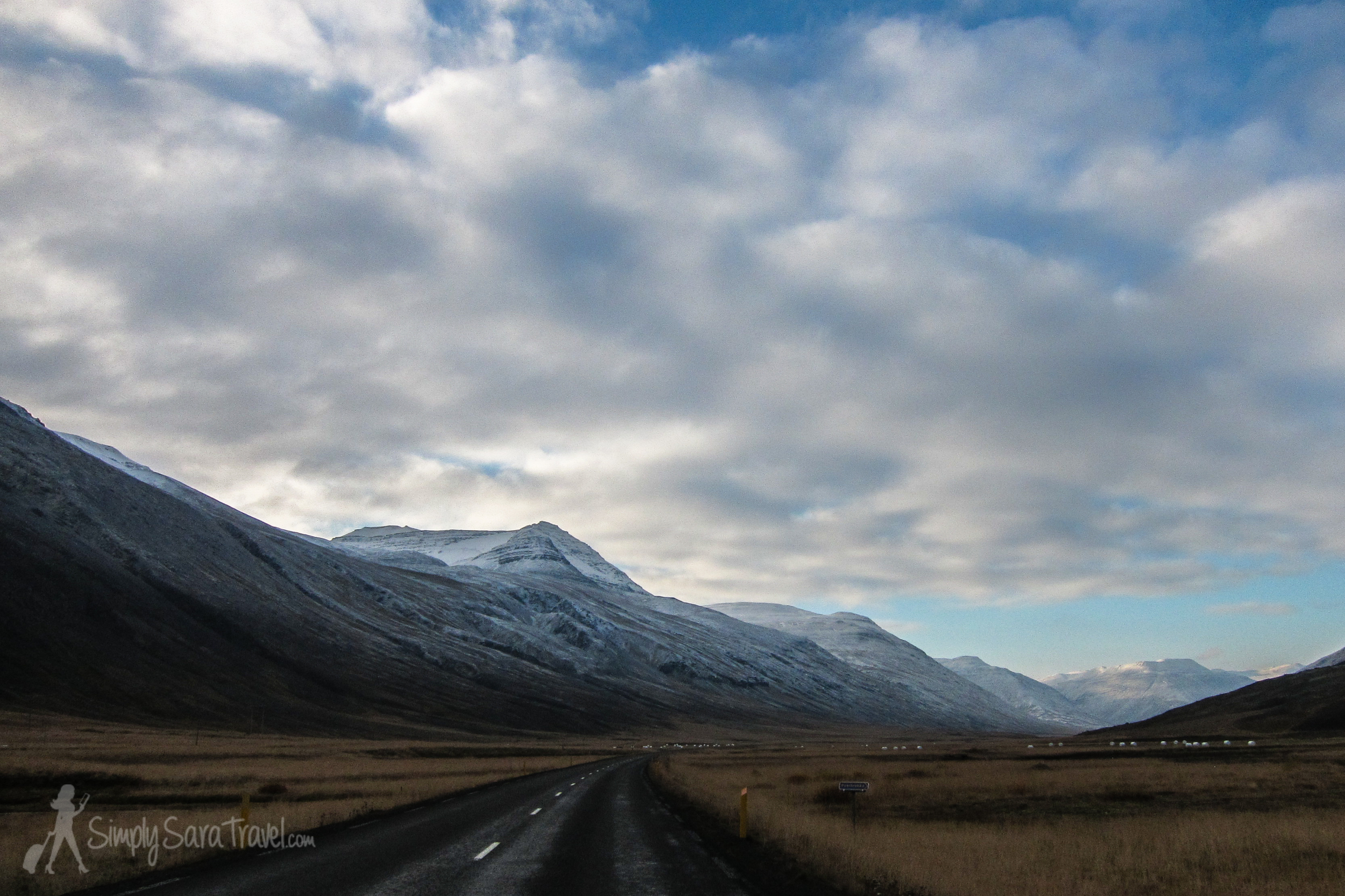 Snow-capped mountains in Iceland