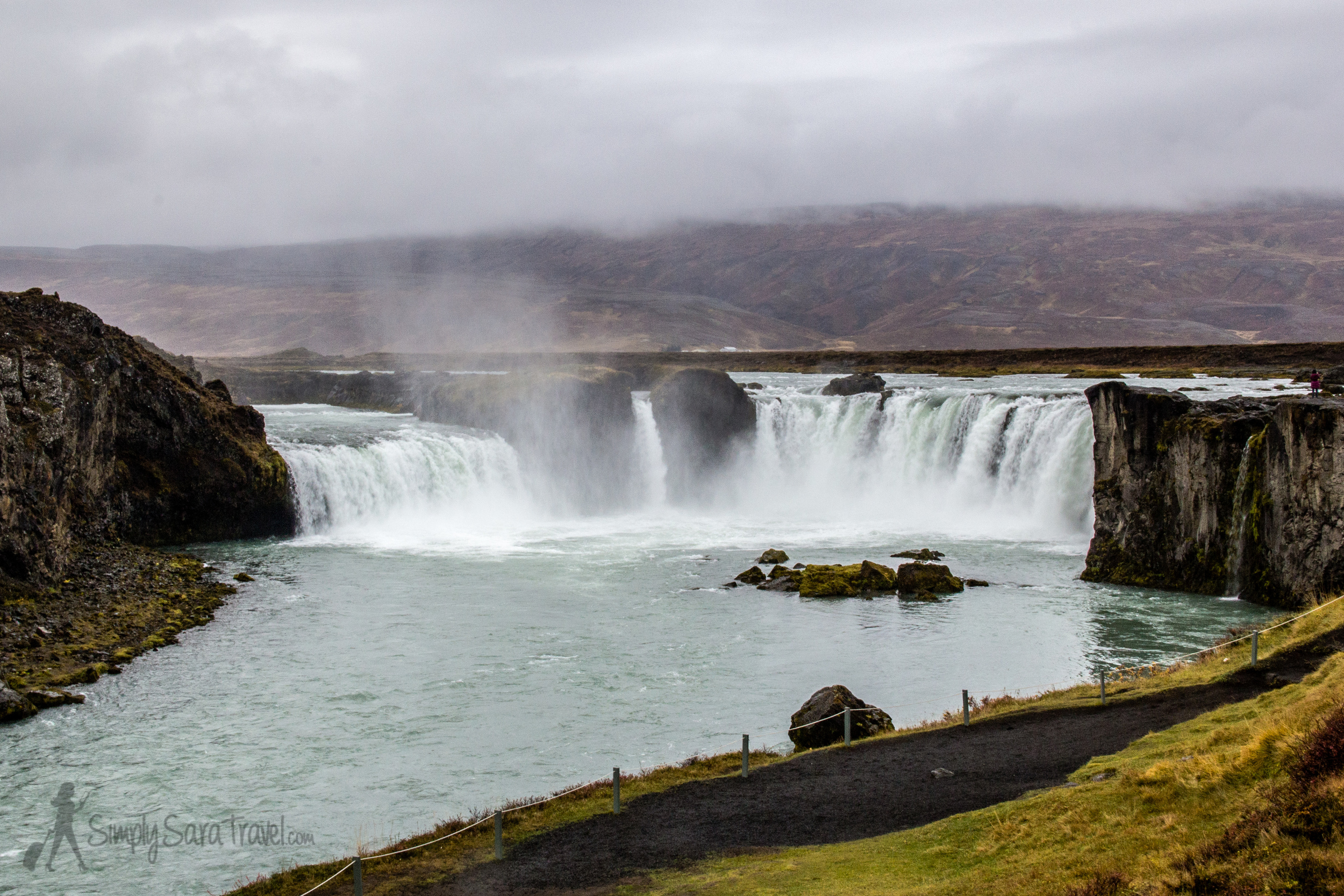 Goðafoss, the site of an Icelandic pagan god throw-down