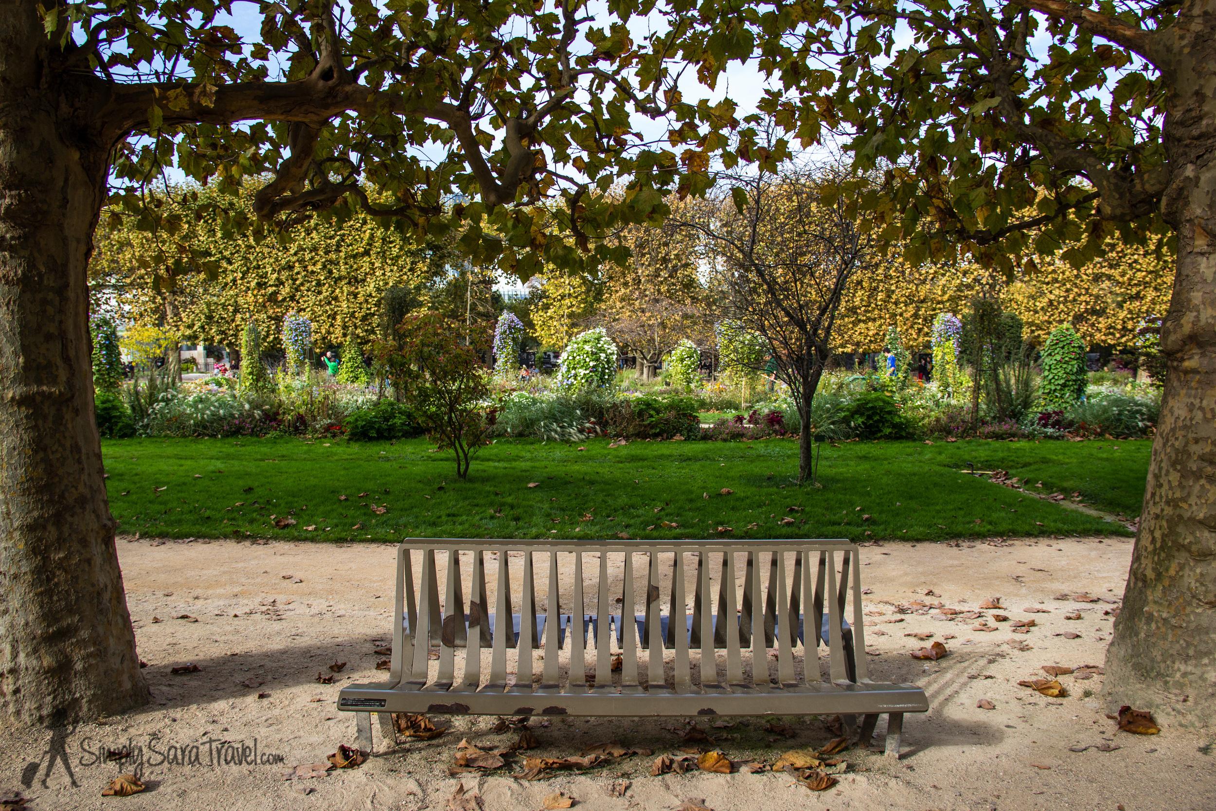 Take a seat atJardin des Plantes, Paris