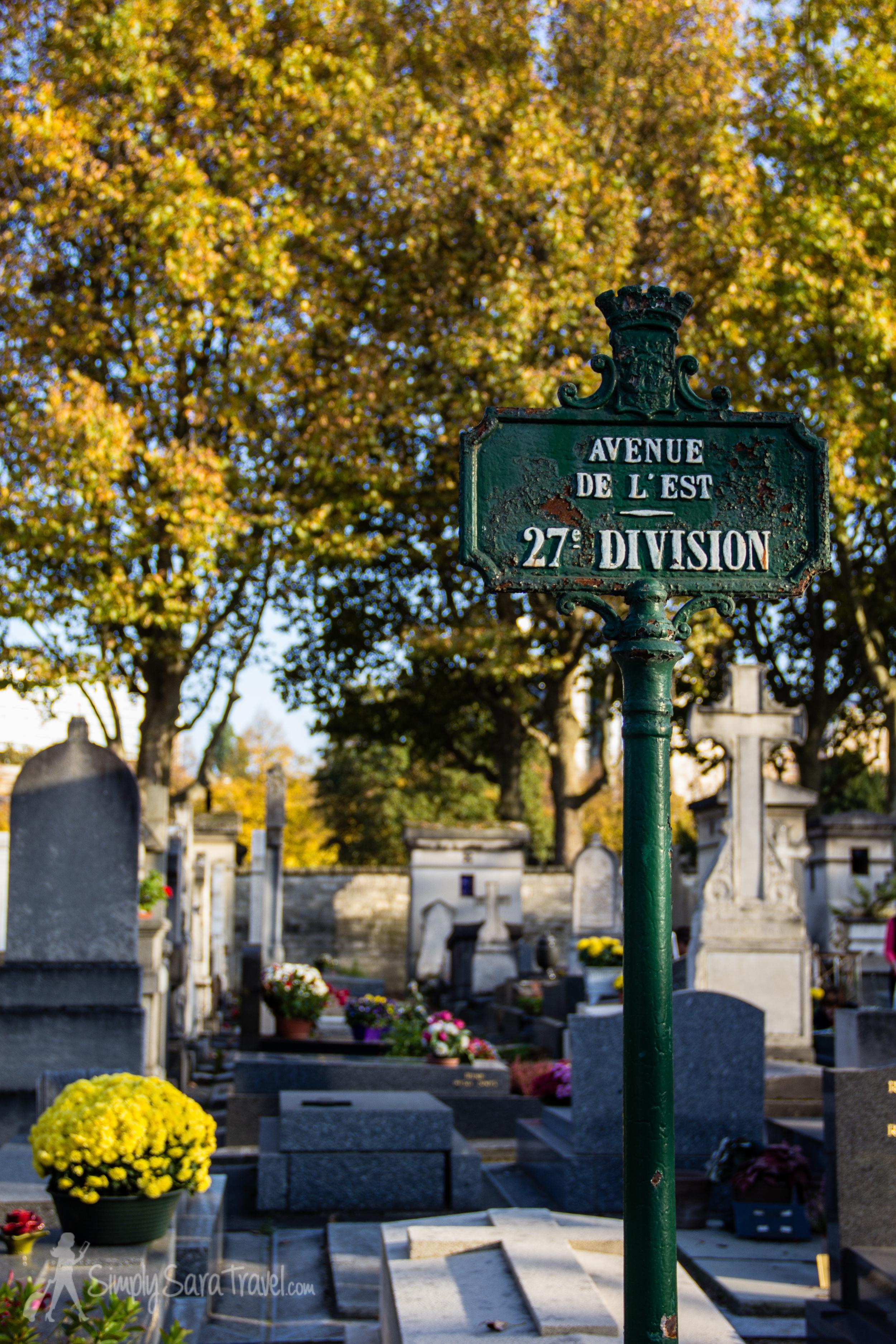Marker 27th division Cimetière du Montparnasse