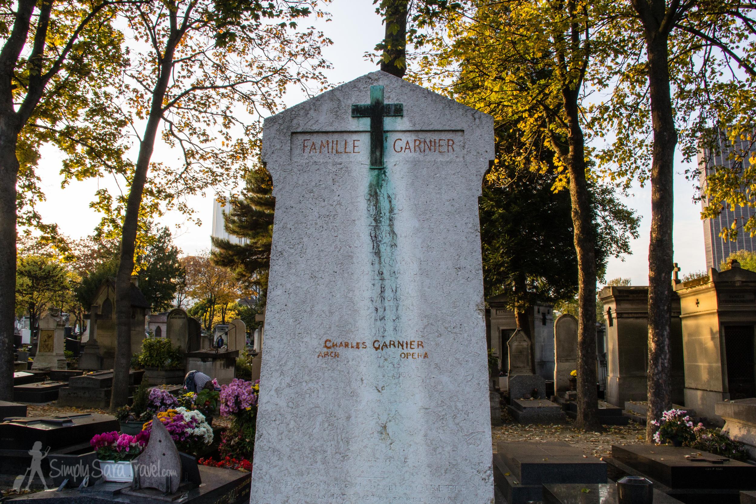 Charles Garnier Tombstone in Cimetière du Montparnasse