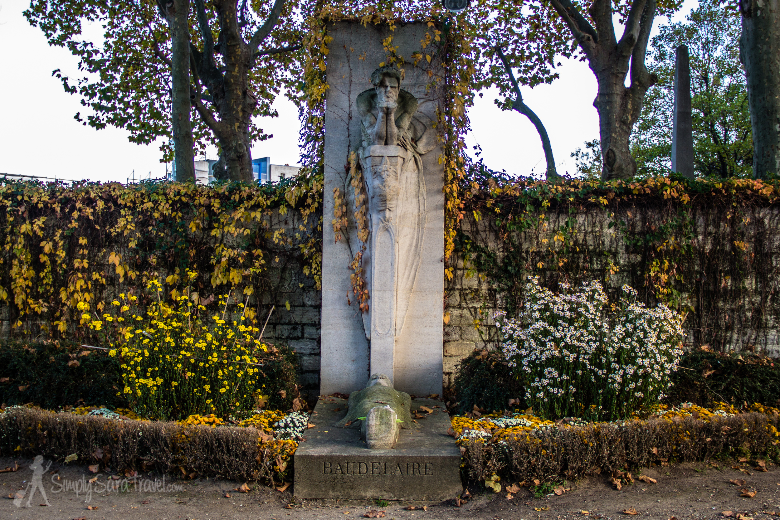 Tomb ofCharles Baudelaire, French poet
