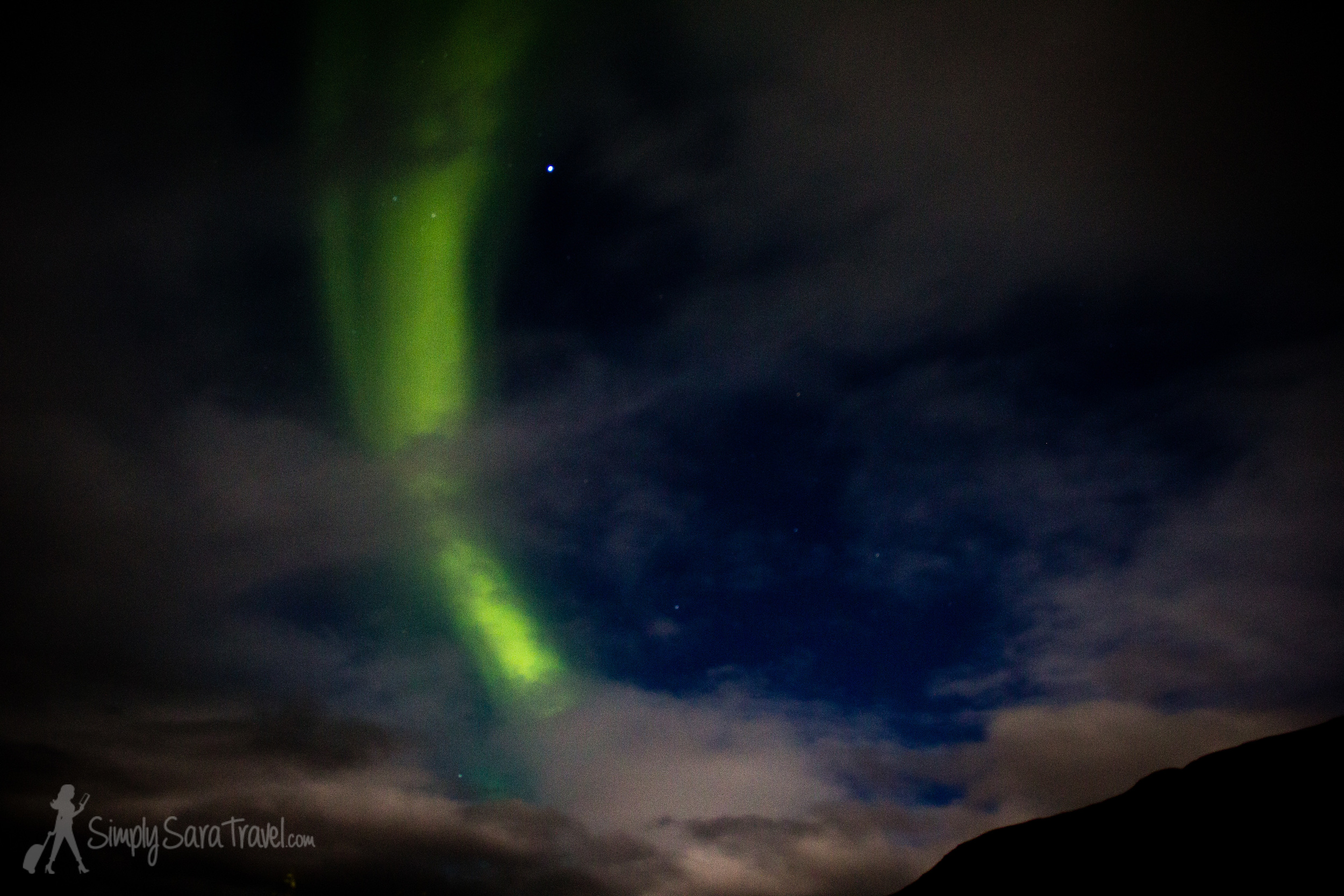 I was able to see the Northern Lights for my first time in Iceland in October! We were up against pretty cloudy nighttime skies the whole trip so we were really fortunate to see anything at all. It's never a guarantee to see them, but a nice bonus to an Icelandic venture if you happen to catch them in the winter months.