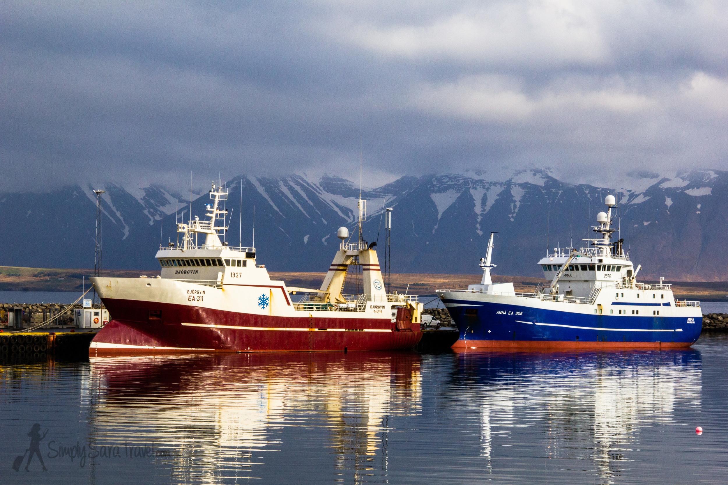 Boats in Dalvik, Iceland