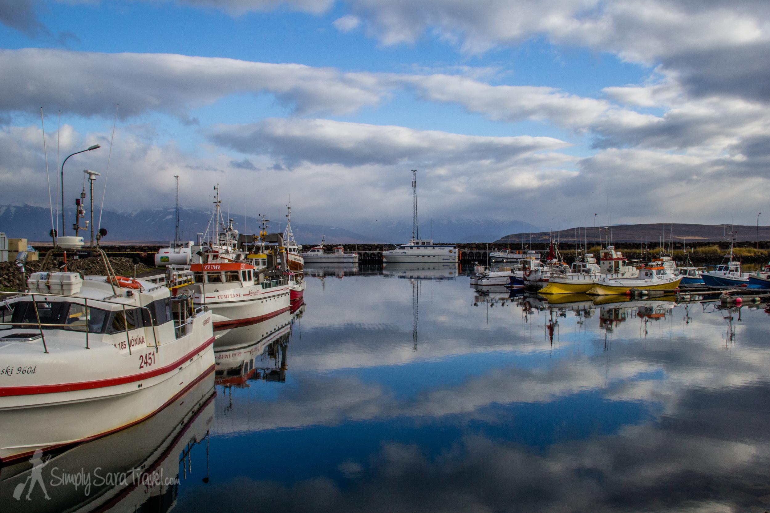 Harbor of Dalvik, Iceland