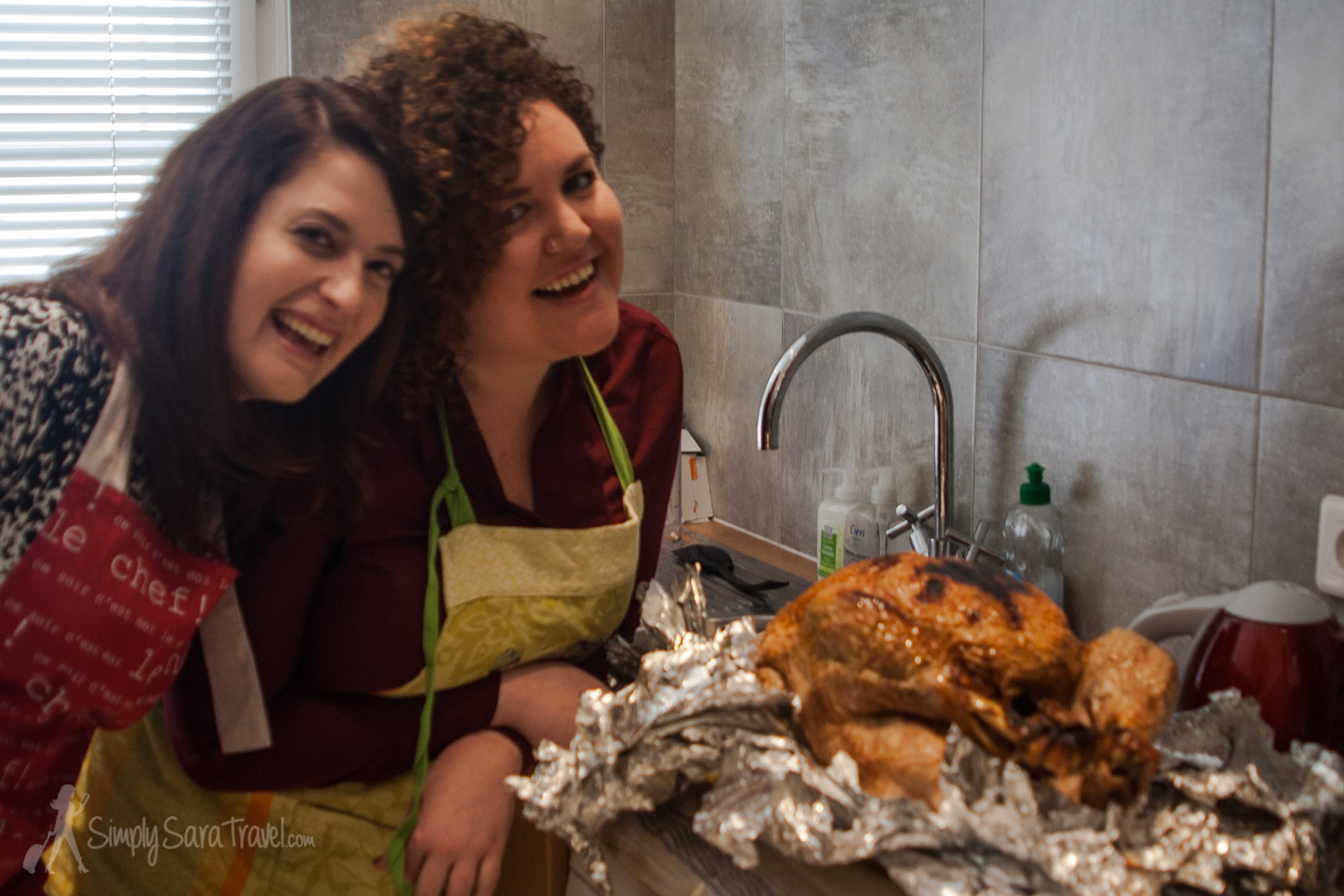 """Kerri made not one but two turkeys in her oven last year - and they came out fabulous! That's another badge of """"adulthood"""" I have yet to acquire - cooking a bird of that size myself!"""