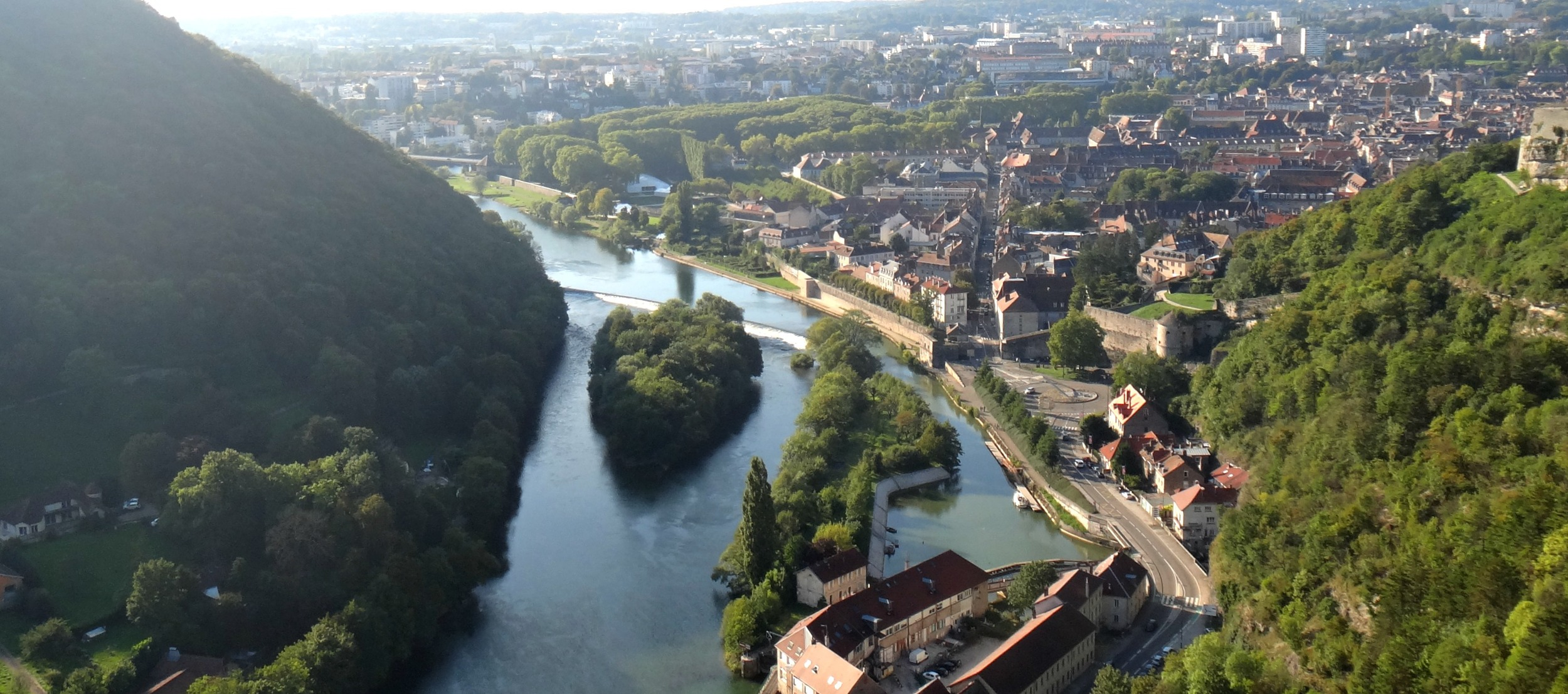 The view from theCitadel of Besancon