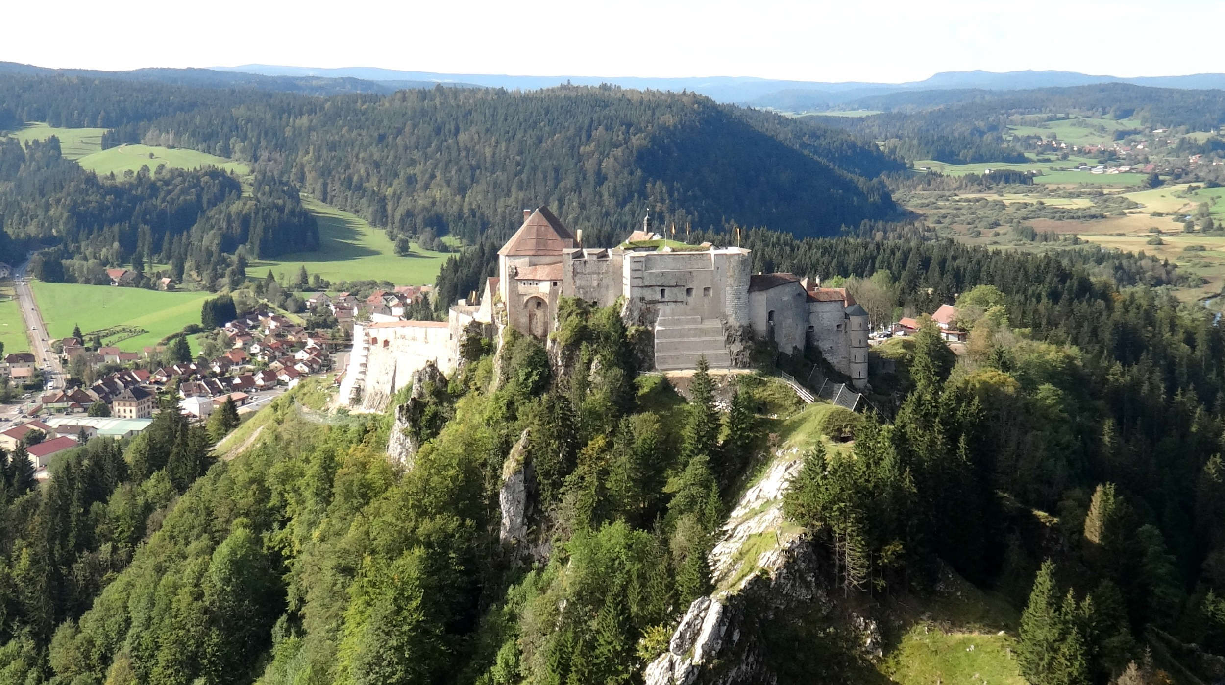The imposing Chateau de Joux
