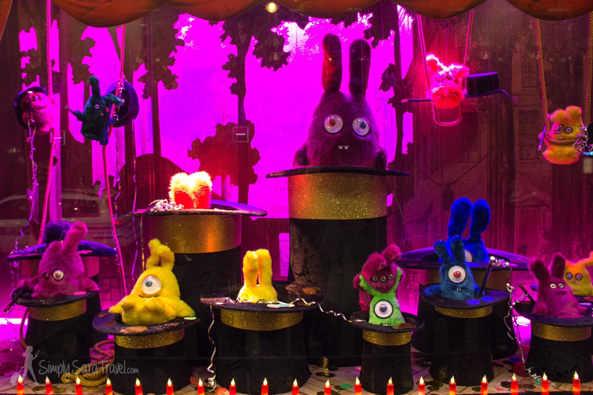Definitely the creepier part of the display! Alien bunnies?