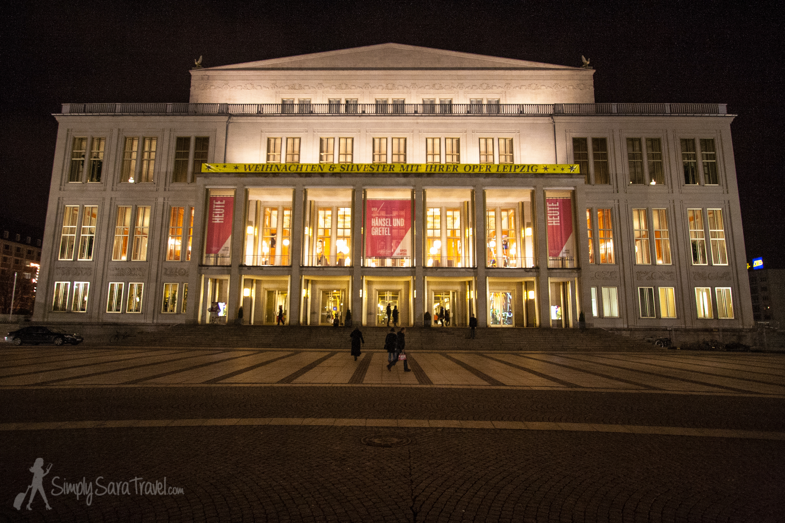 In front of theLeipzig Opera  (Oper Leipzig)