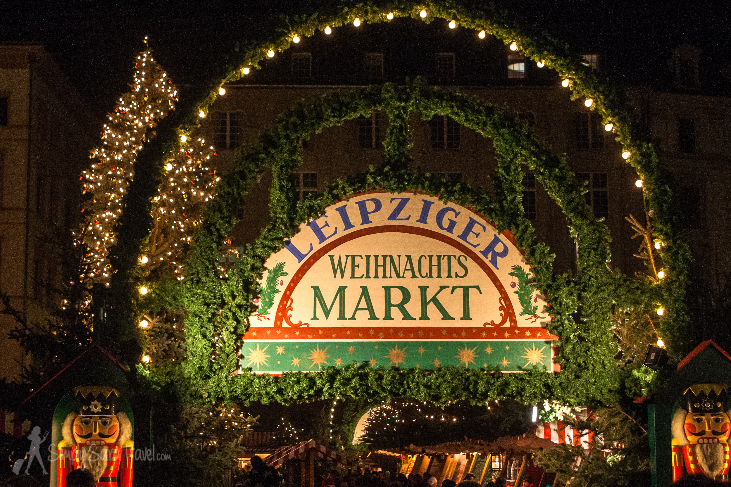 The Christmas market (Weihnachts Markt) in Leipzig, Germany
